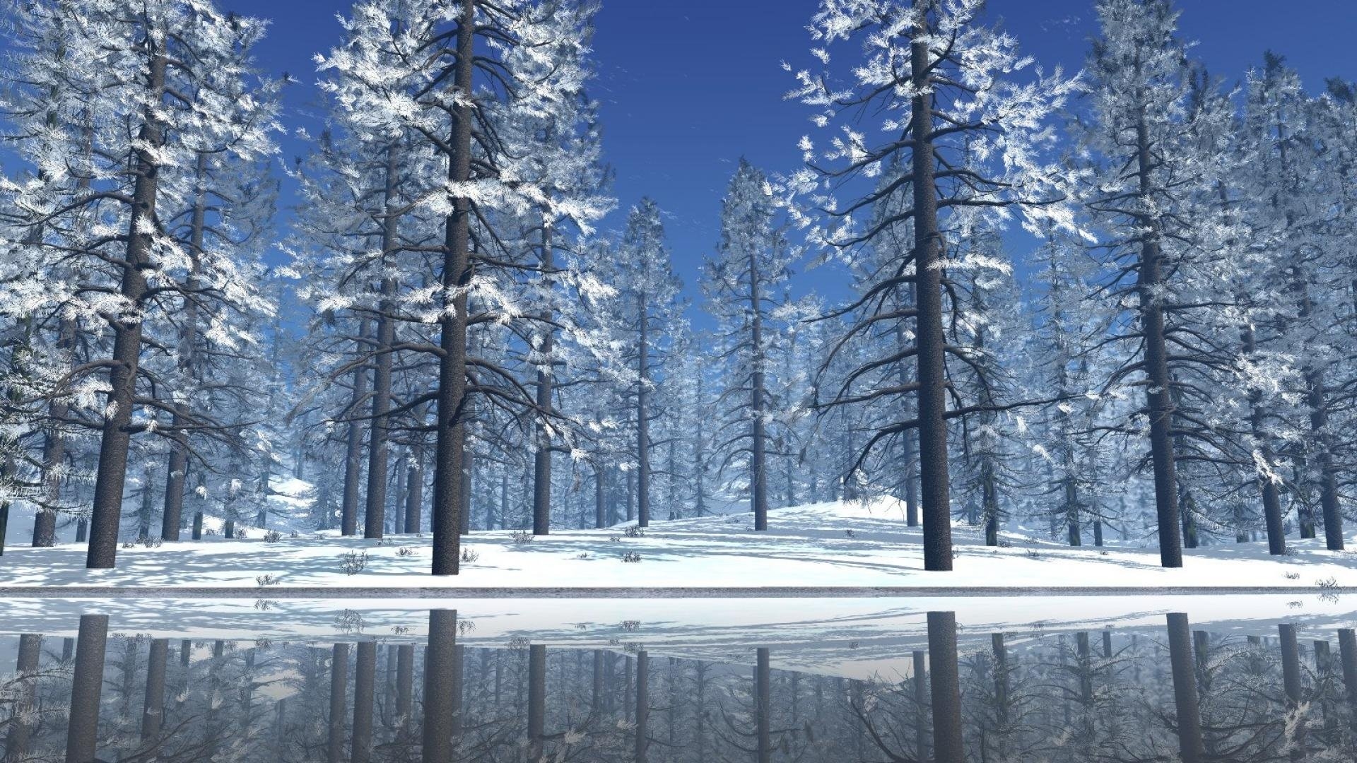Res: 1920x1080, christmas snow scene