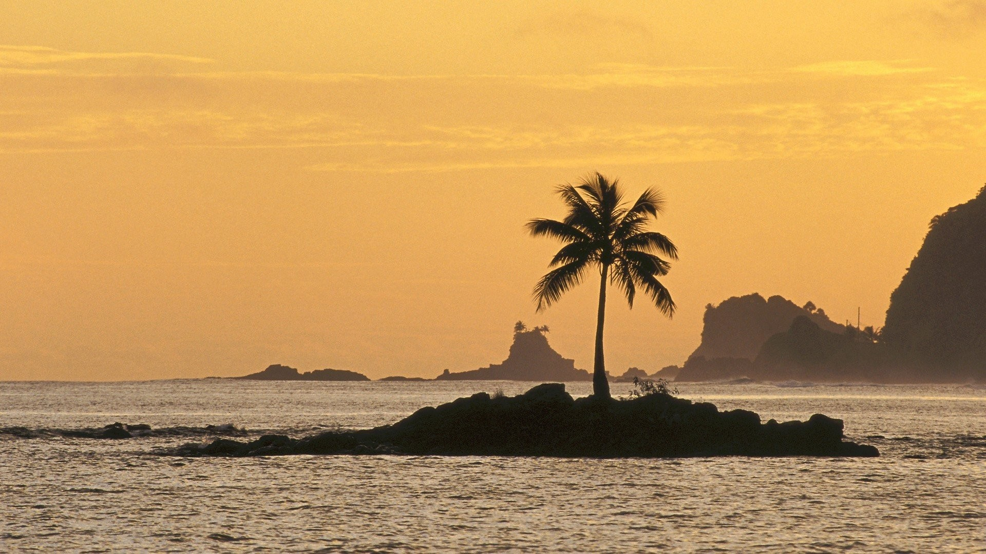 Res: 1920x1080, Coconut Ocean Islands Sunset Tree Photos Of Nature -