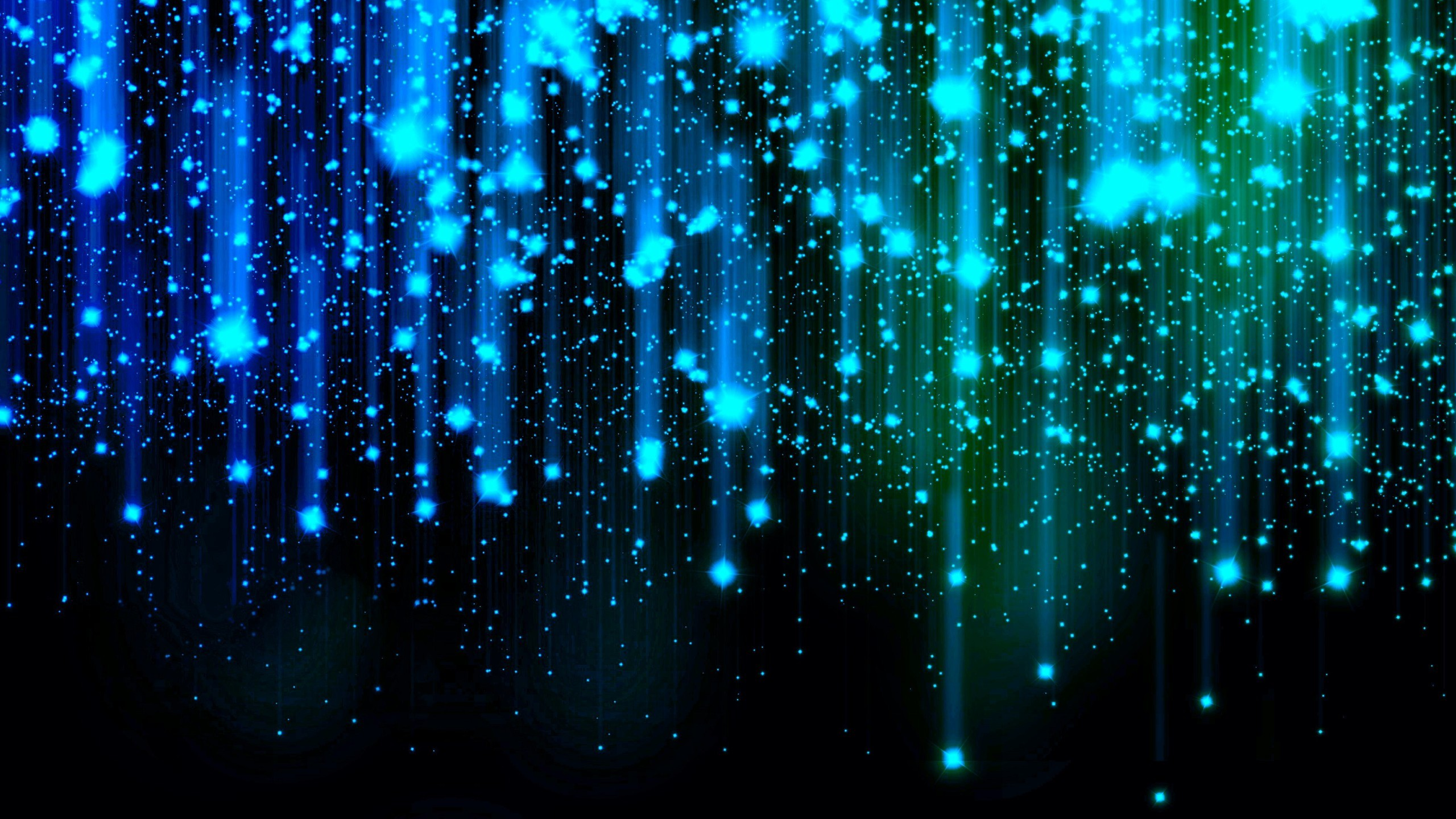 Res: 2560x1440, Blue Sparkle Glow Abstract Wallpaper .