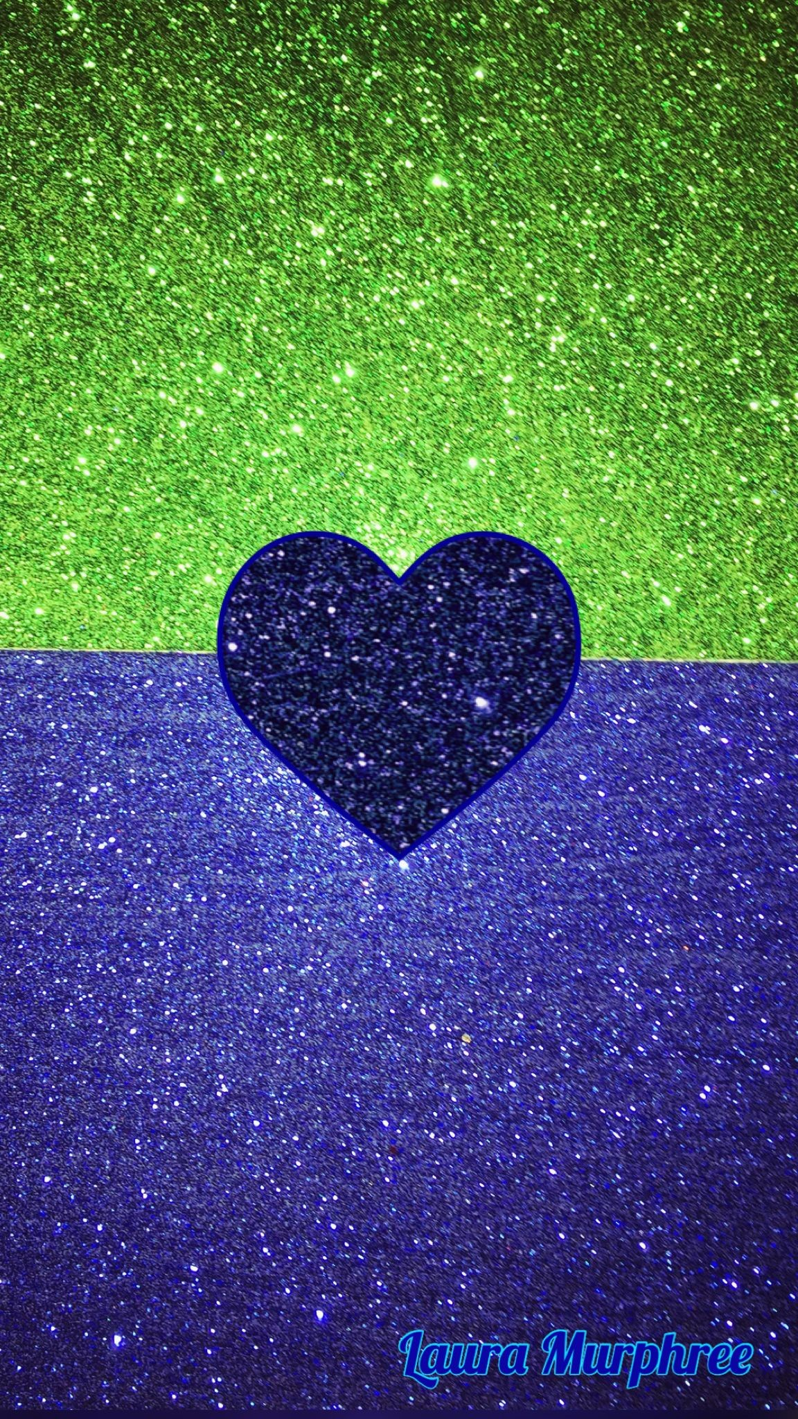 Res: 1152x2048, Glitter phone wallpaper green blue sparkle background glitter heart girly pretty