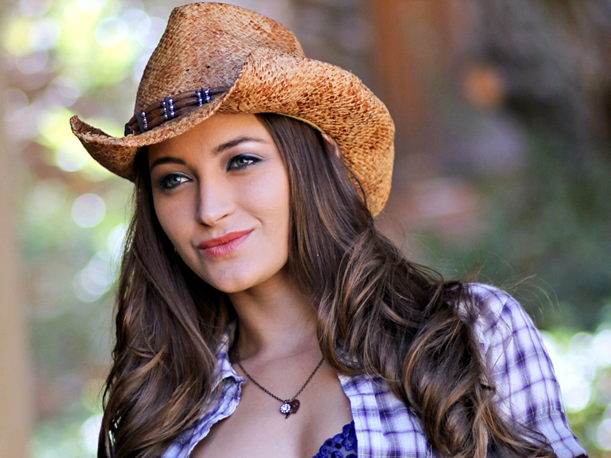Res: 2560x1920, Cowgirl Cowboy hat Brunette Model wallpaper |  | 479581 |  WallpaperUP