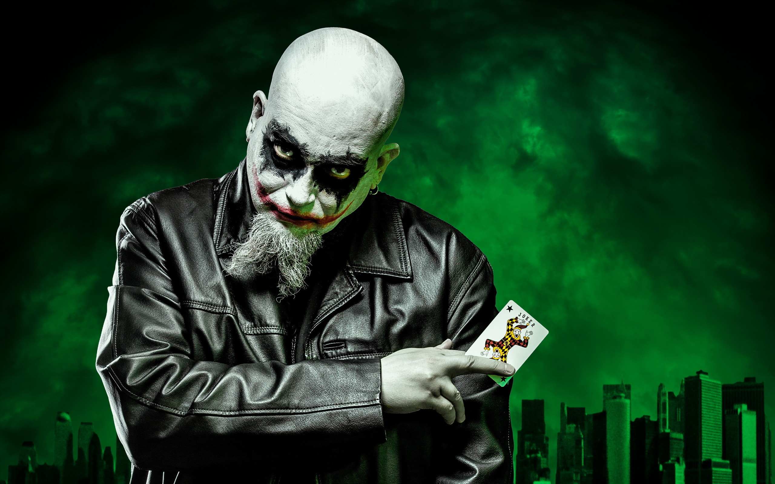 Res: 2560x1600, Joker dark self portrait batman clown evil wallpaper |  | 182221 |  WallpaperUP