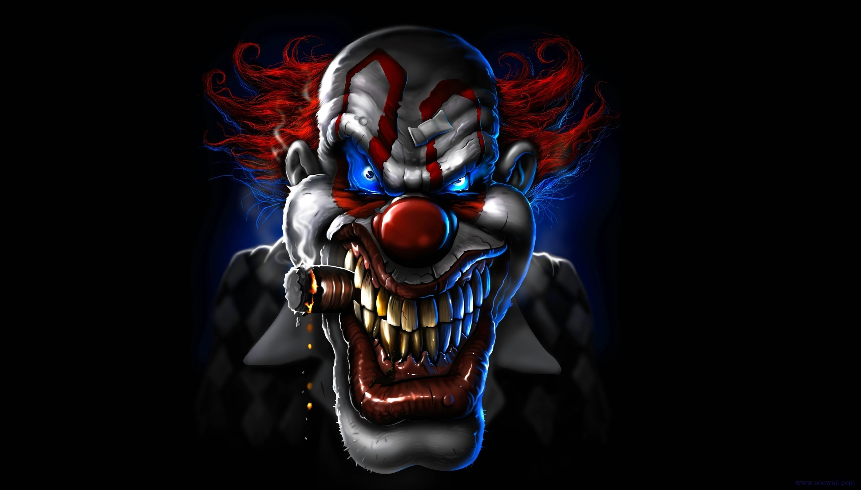 Res: 2800x1593, 2560x1600 Images For > Killer Clown Wallpaper
