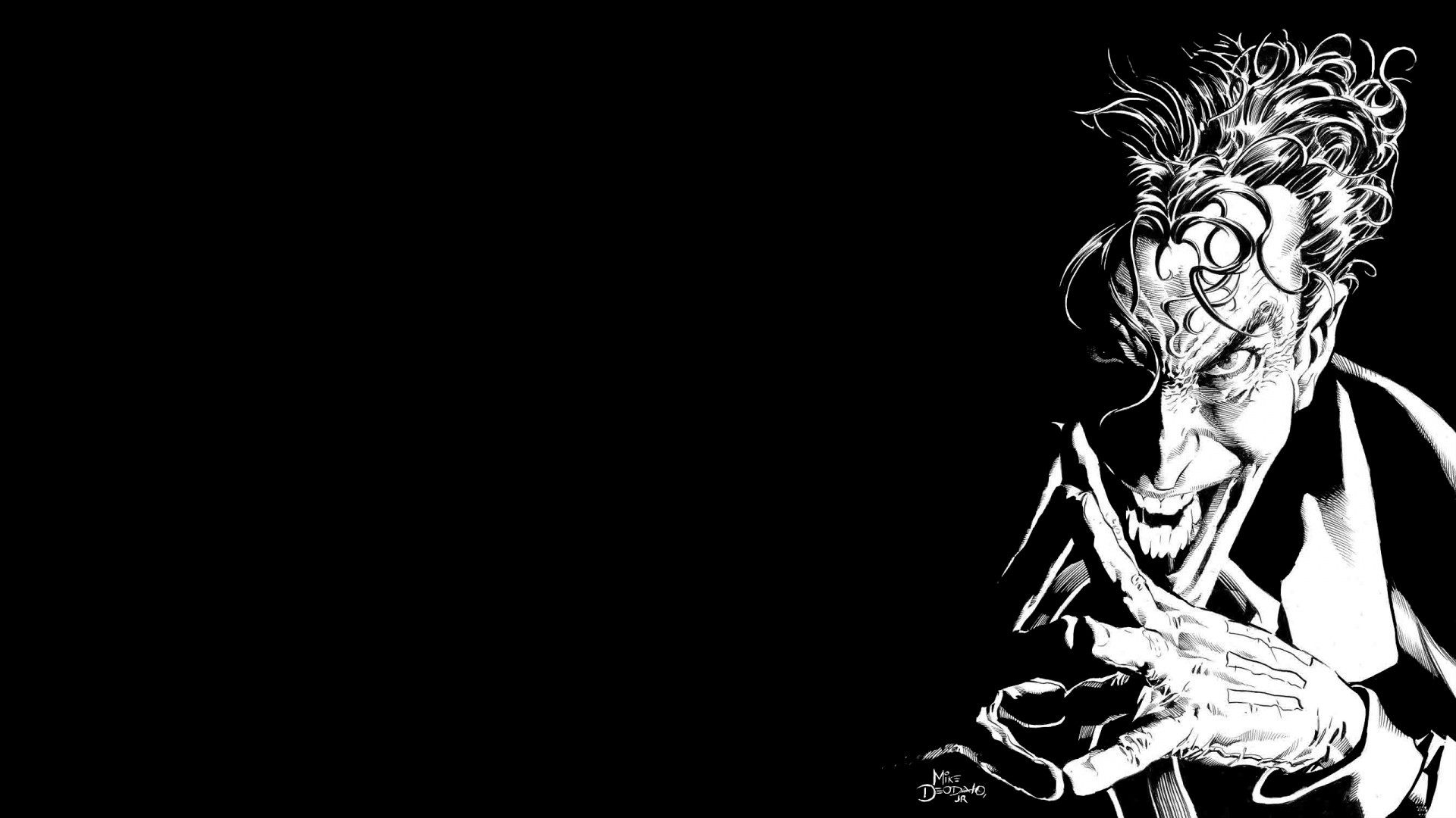 Res: 1920x1080, Black White Joker Wallpaper Android Wallpaper