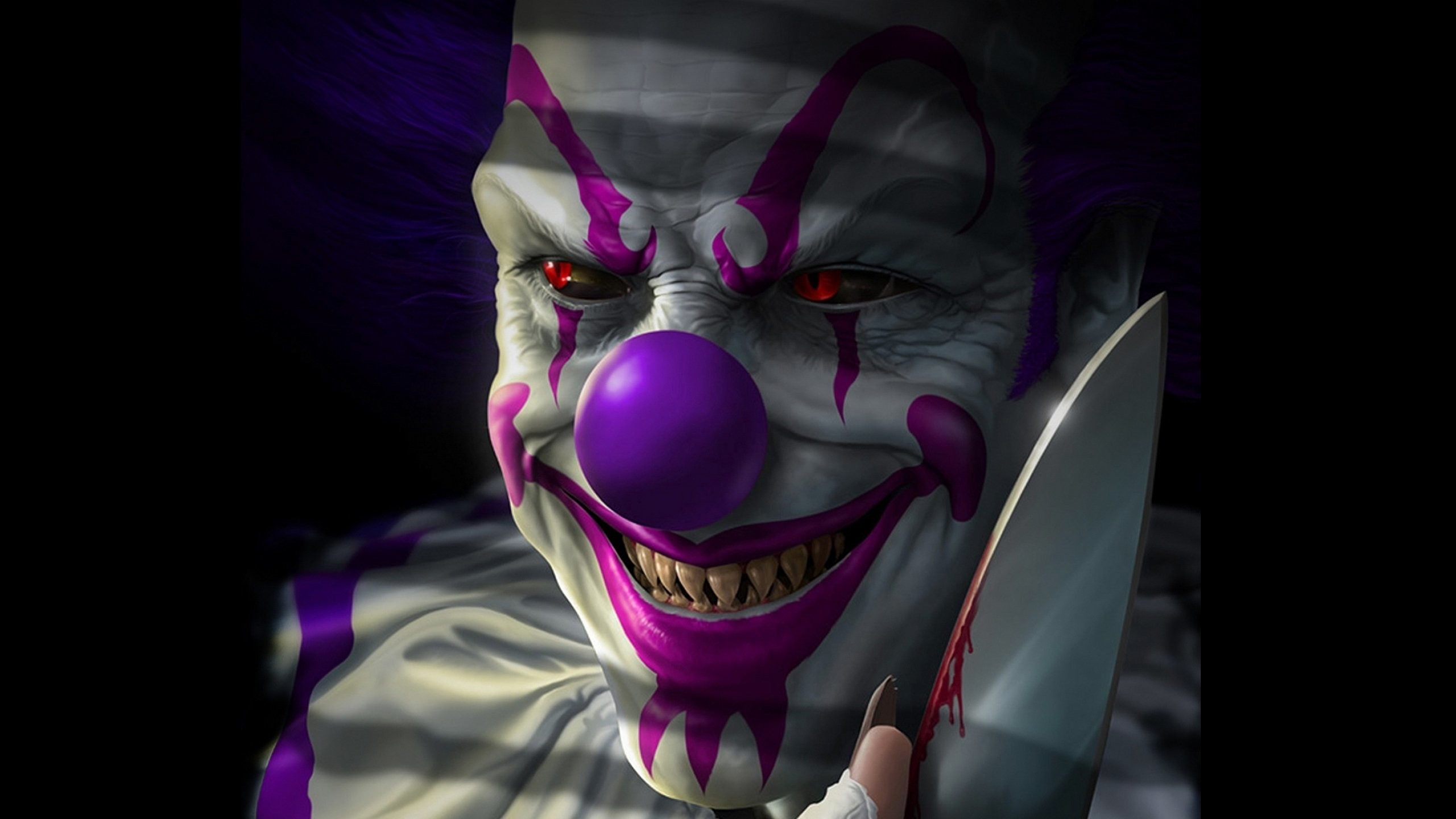 Res: 2560x1440, Scary Clown Wallpaper Free