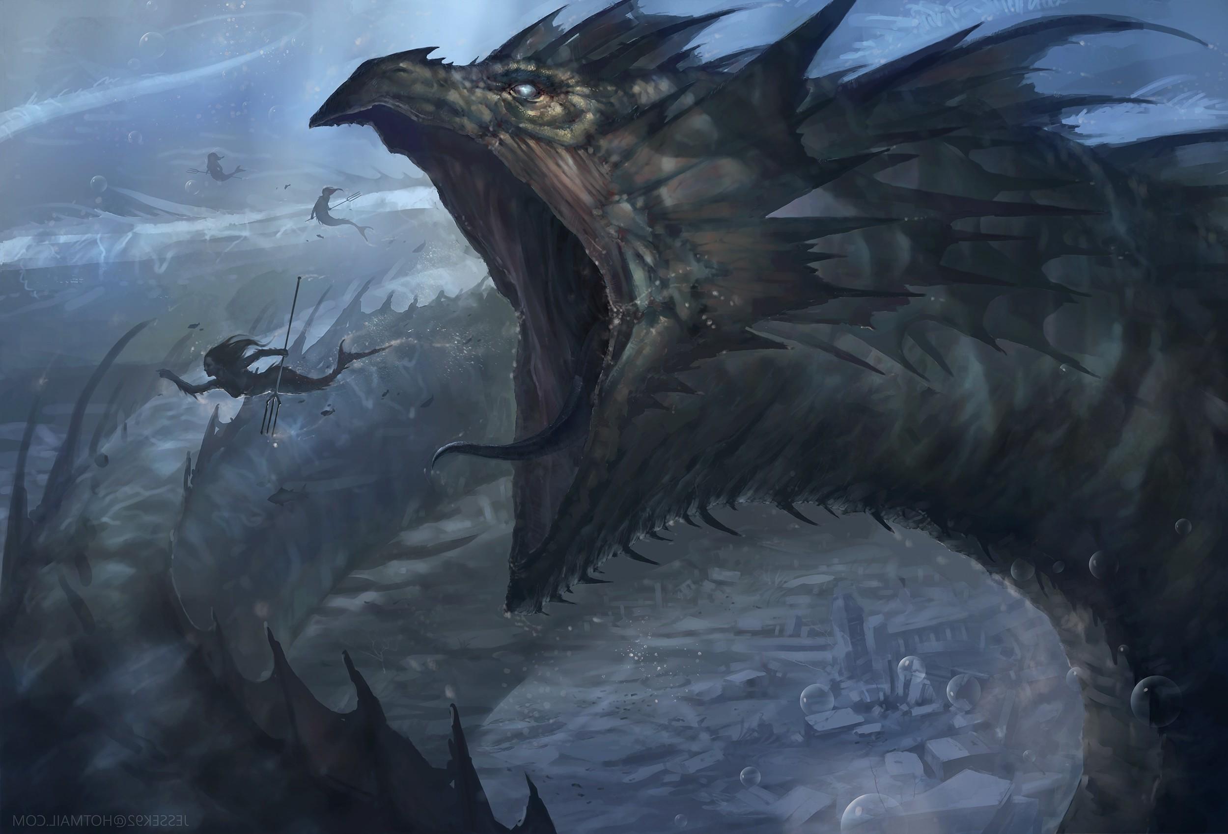 Res: 2500x1699, fantasy Art, Leviathan