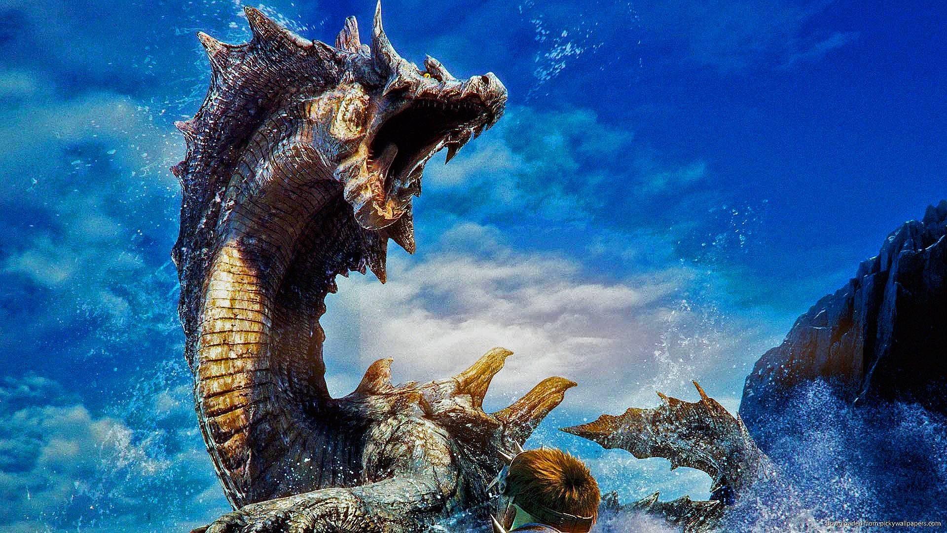 Res: 1920x1080, #dragon, #leviathan, #Monster Hunter | Wallpaper No .