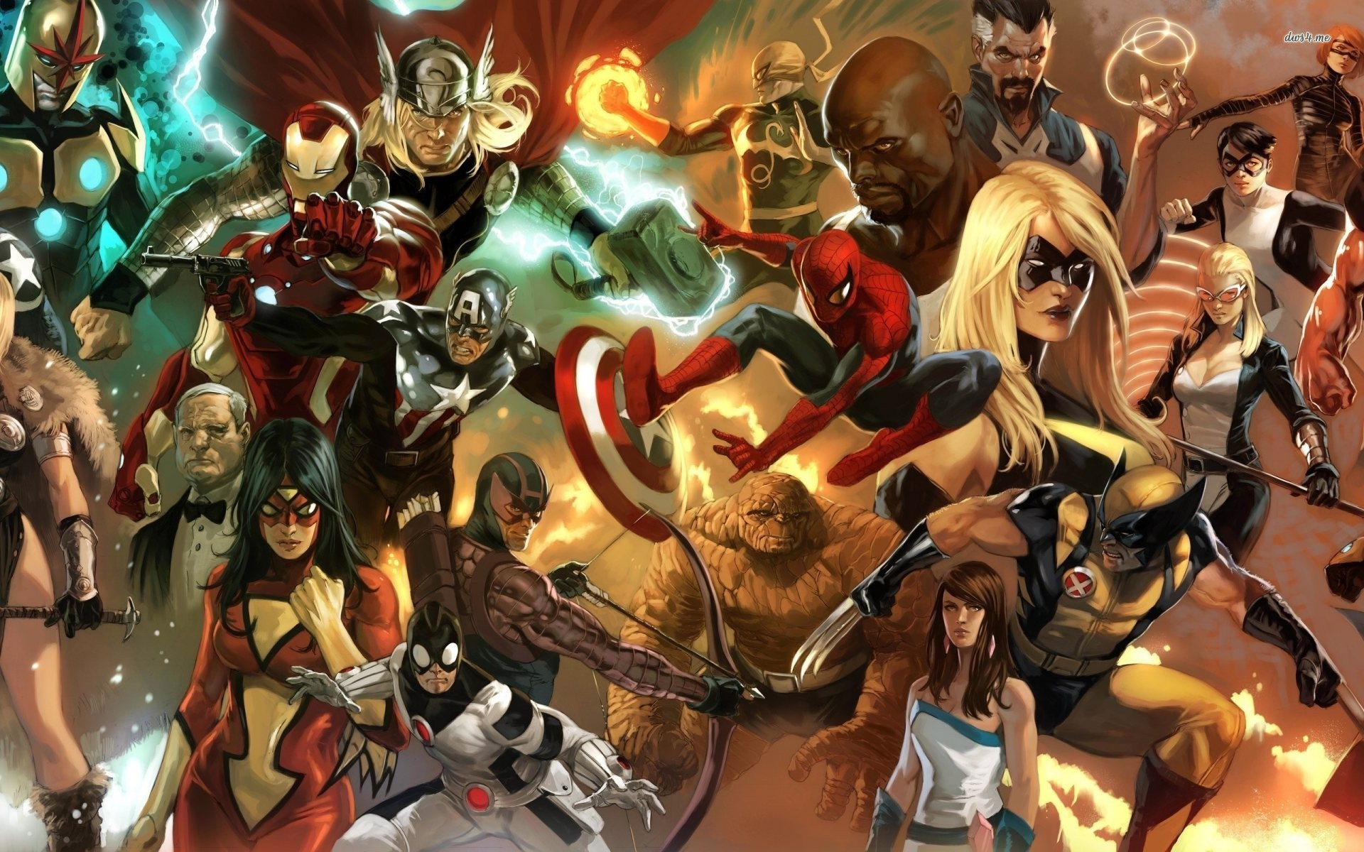Res: 1920x1200, Awesome Marvel Heroes Images Collection: Marvel Heroes Wallpapers