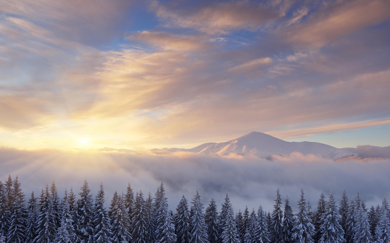 Res: 2880x1800, Nature / Sunrise Wallpaper
