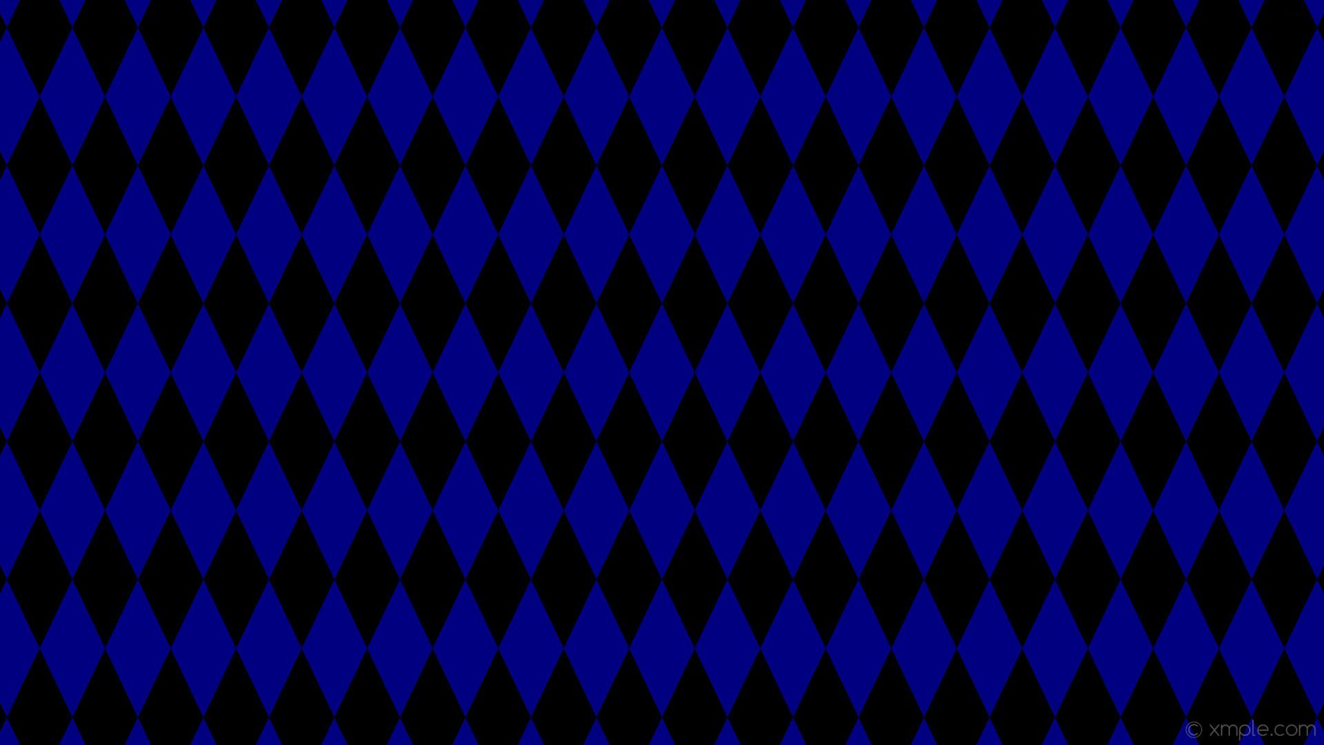 Res: 1920x1080, wallpaper rhombus blue lozenge black diamond navy #000080 #000000 90° 200px  95px