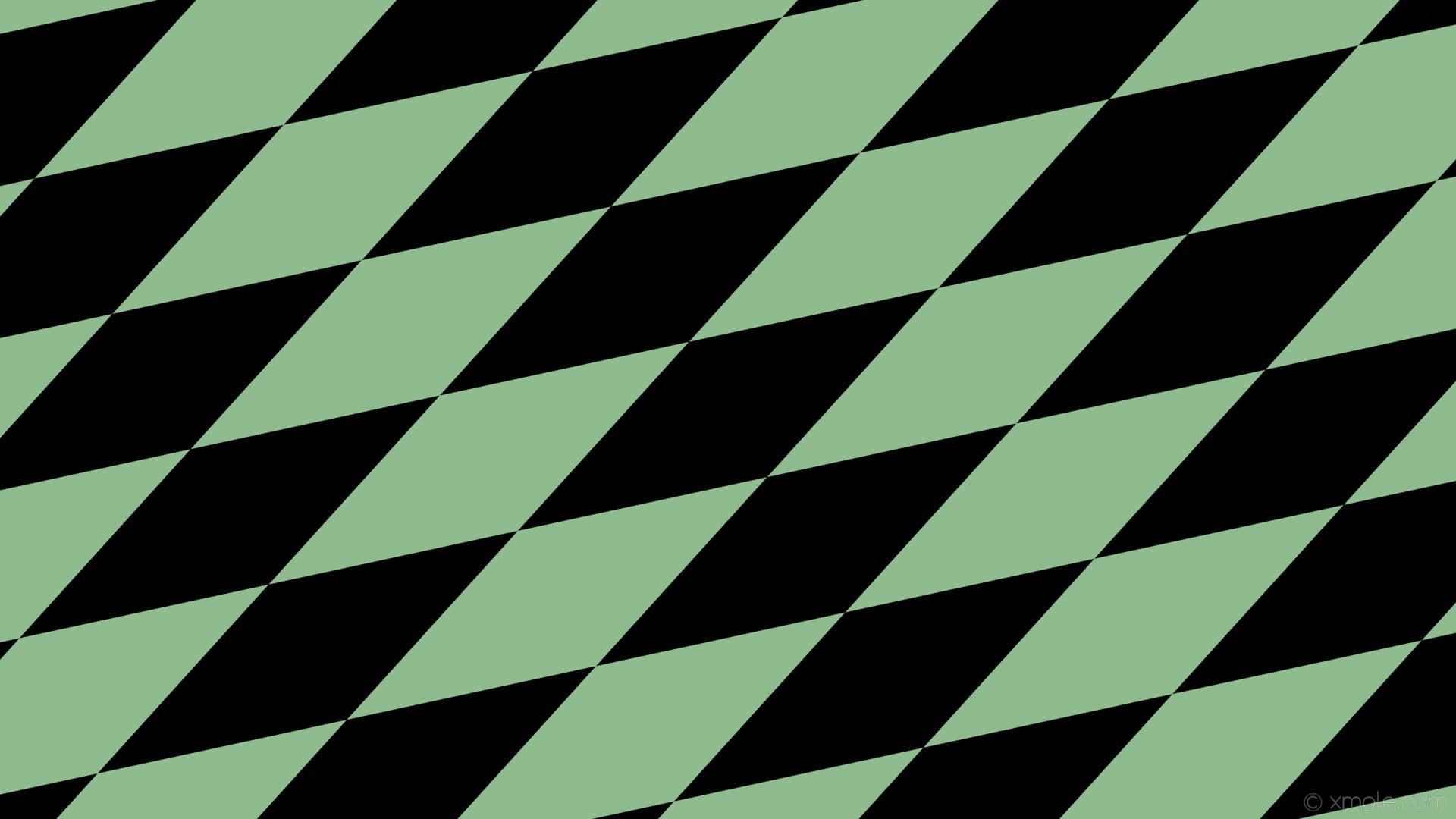 Res: 1920x1080, wallpaper rhombus green black diamond lozenge dark sea green #000000  #8fbc8f 30° 640px