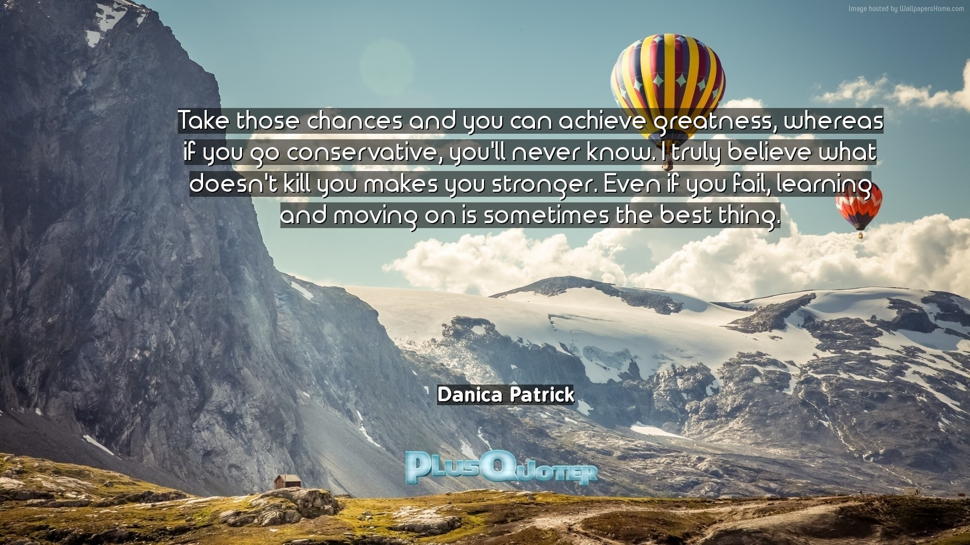 """Res: 1920x1080, Download Wallpaper with inspirational Quotes- """"Take those chances and you  can achieve greatness,"""