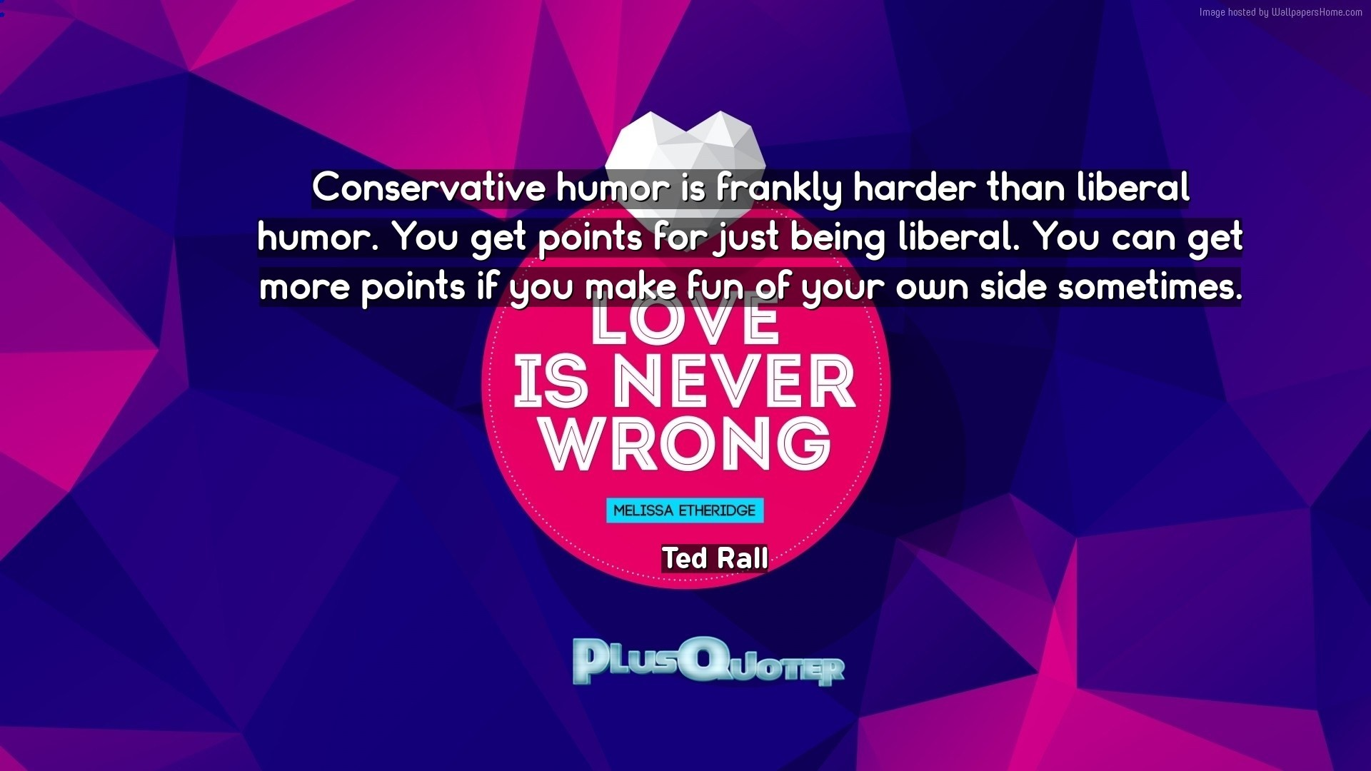 """Res: 1920x1080, Download Wallpaper with inspirational Quotes- """"Conservative humor is  frankly harder than liberal humor."""