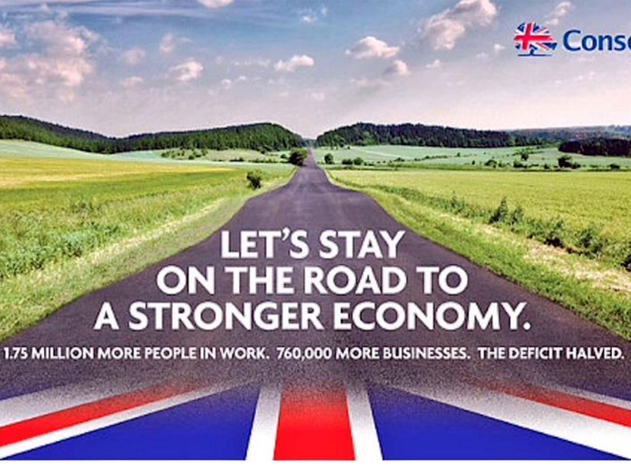 Res: 2048x1536, Conservative election poster: Tories use picture of German road in 'road to  recovery' election poster | The Independent