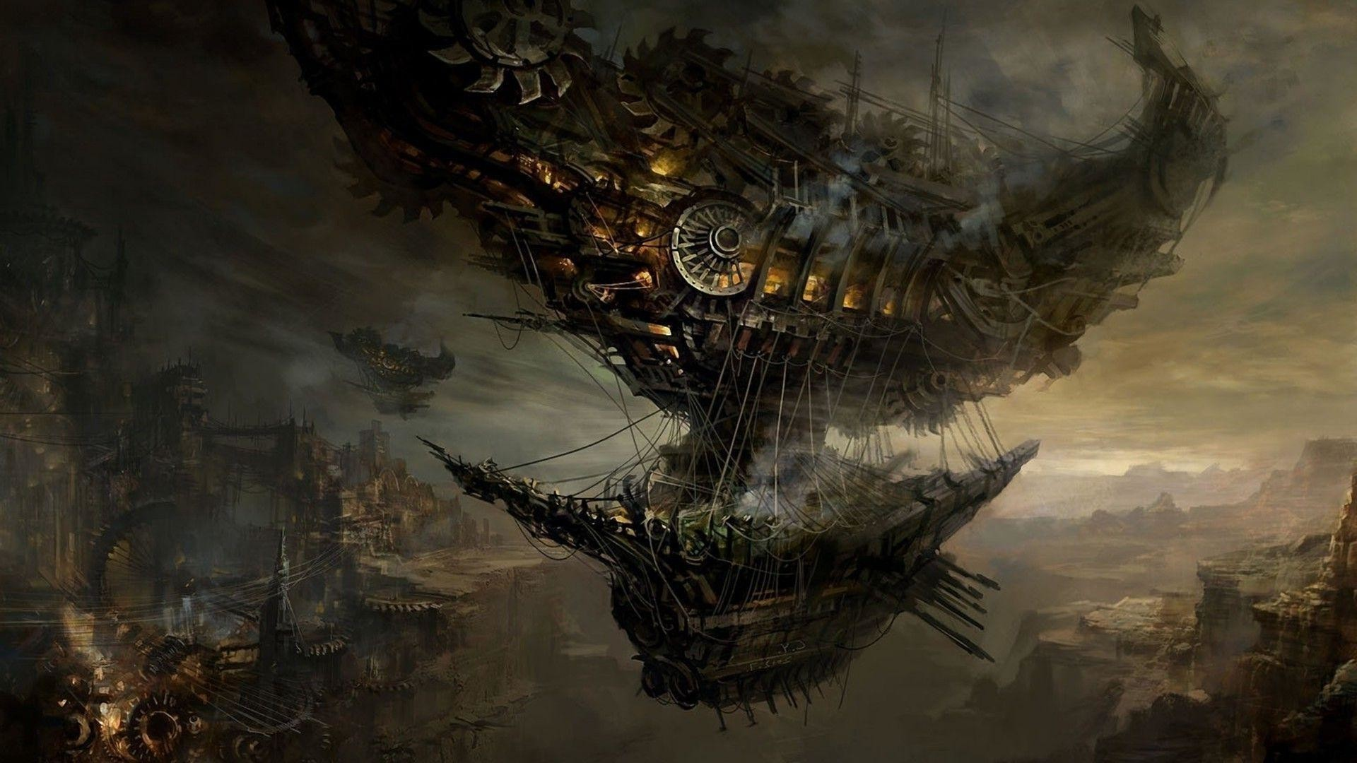 Res: 1920x1080, Download Steampunk Blimp Wallpaper  | Full HD Wallpapers