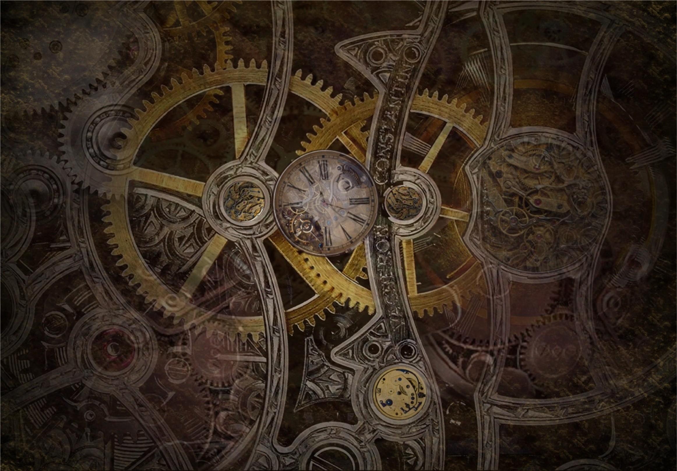 Res: 2324x1616, Sci Fi - Steampunk Gears Wallpaper