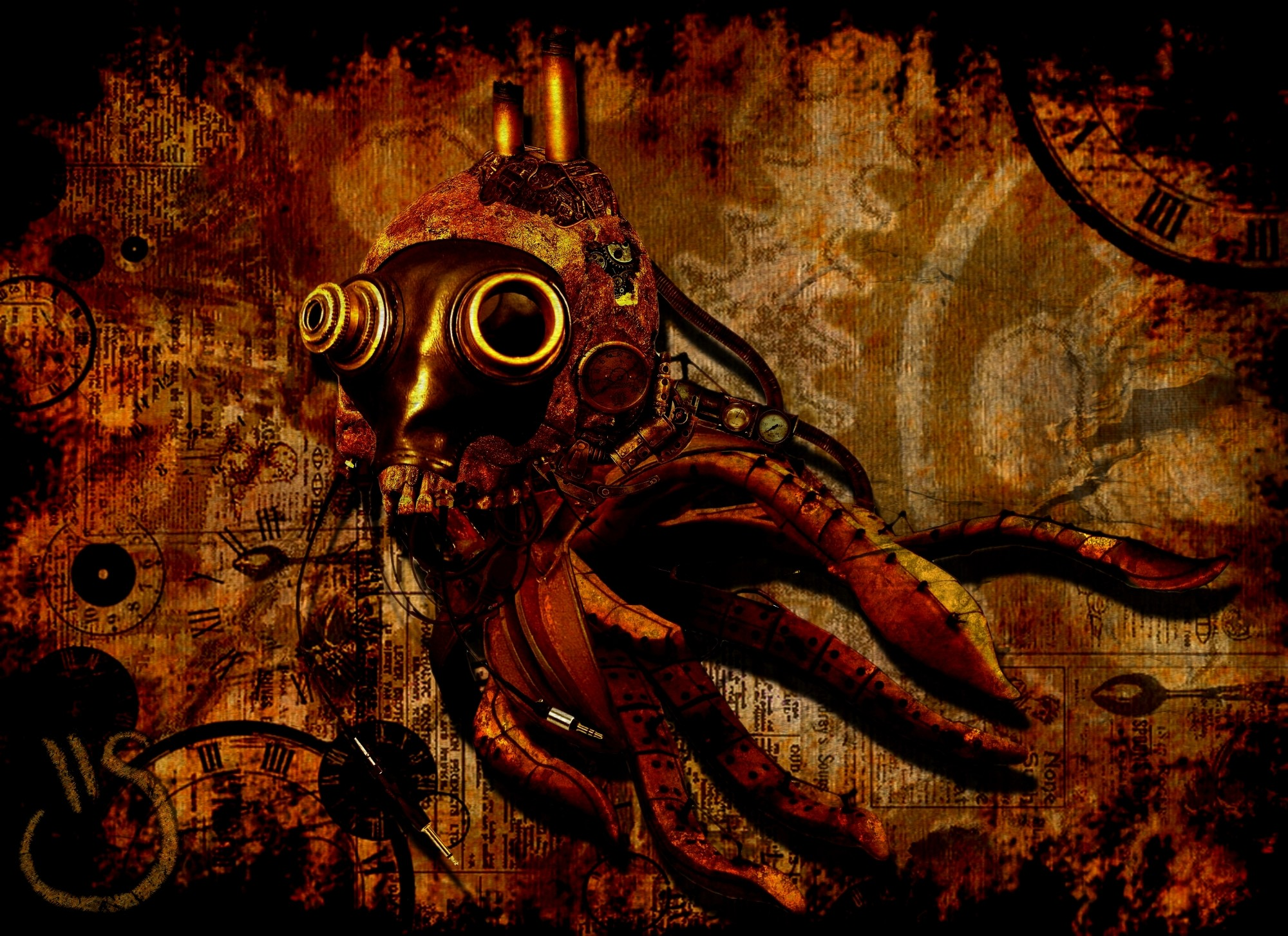 Res: 2000x1454, HD Wallpaper of Steampunk Wallpaper Hd Background, Desktop Wallpaper  Steampunk Wallpaper Hd Background
