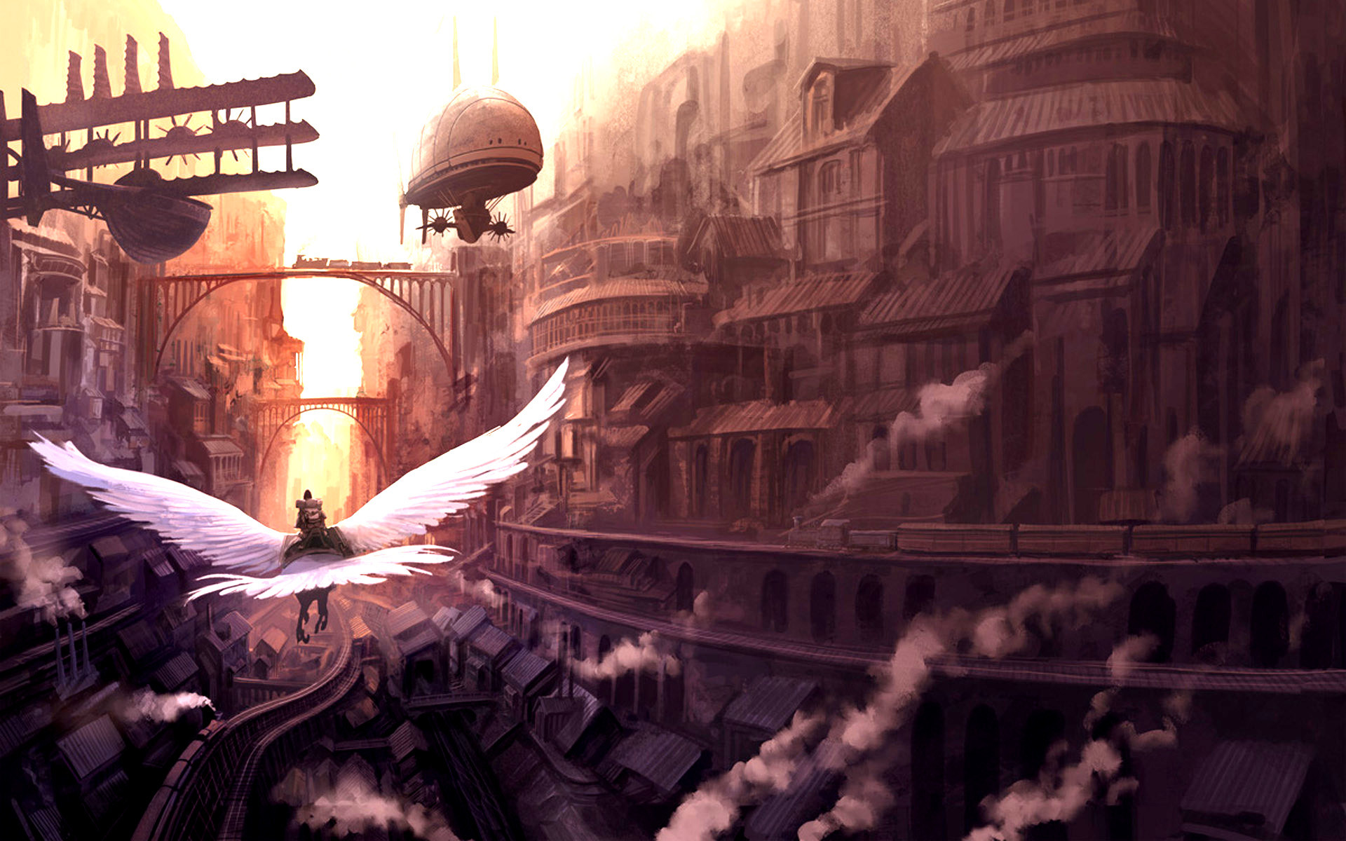 Res: 1920x1200, Free steampunk wallpaper background