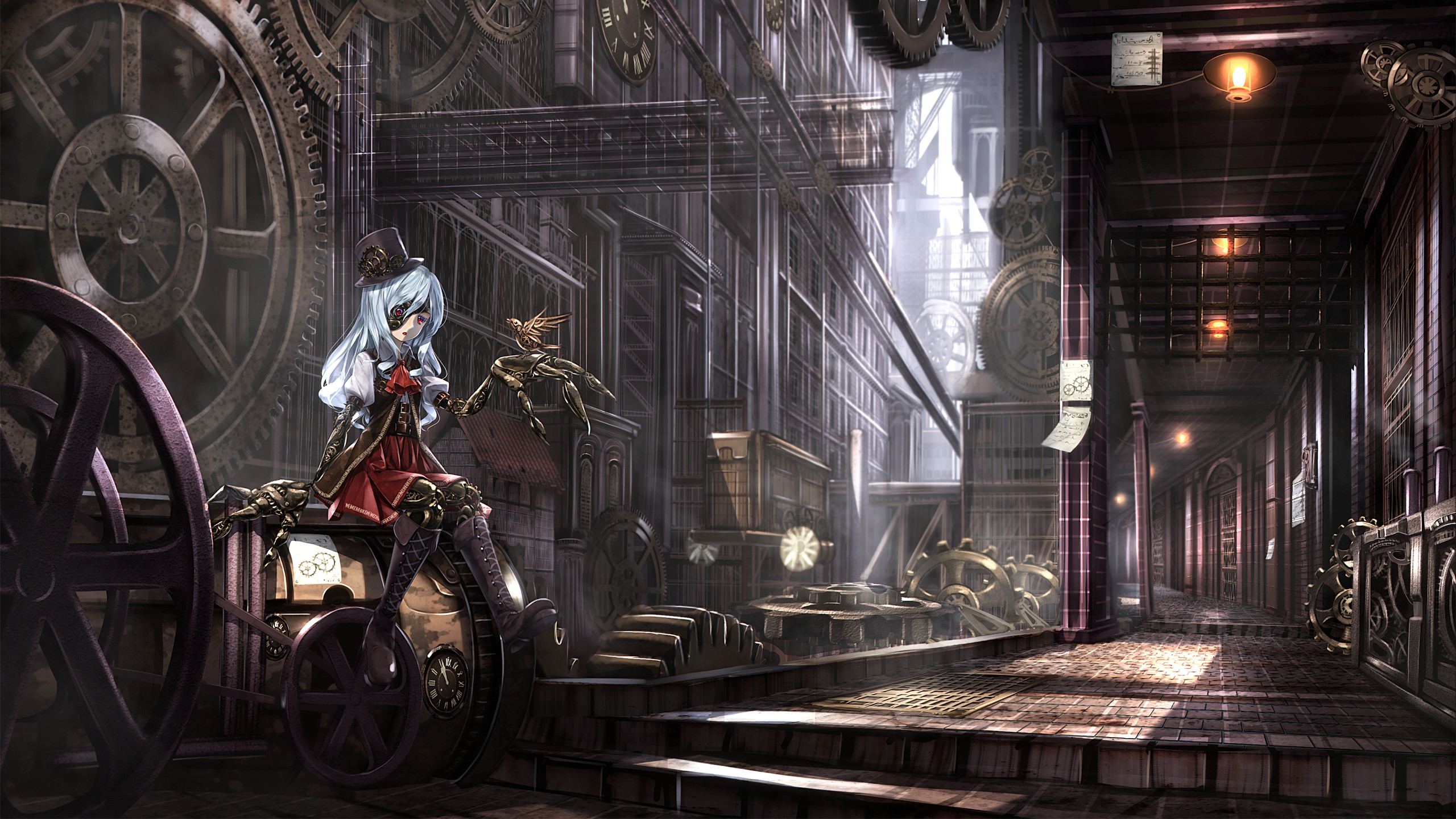 Res: 2560x1440,  anime Girls, Anime, Steampunk Wallpapers HD Desktop and Mobile.