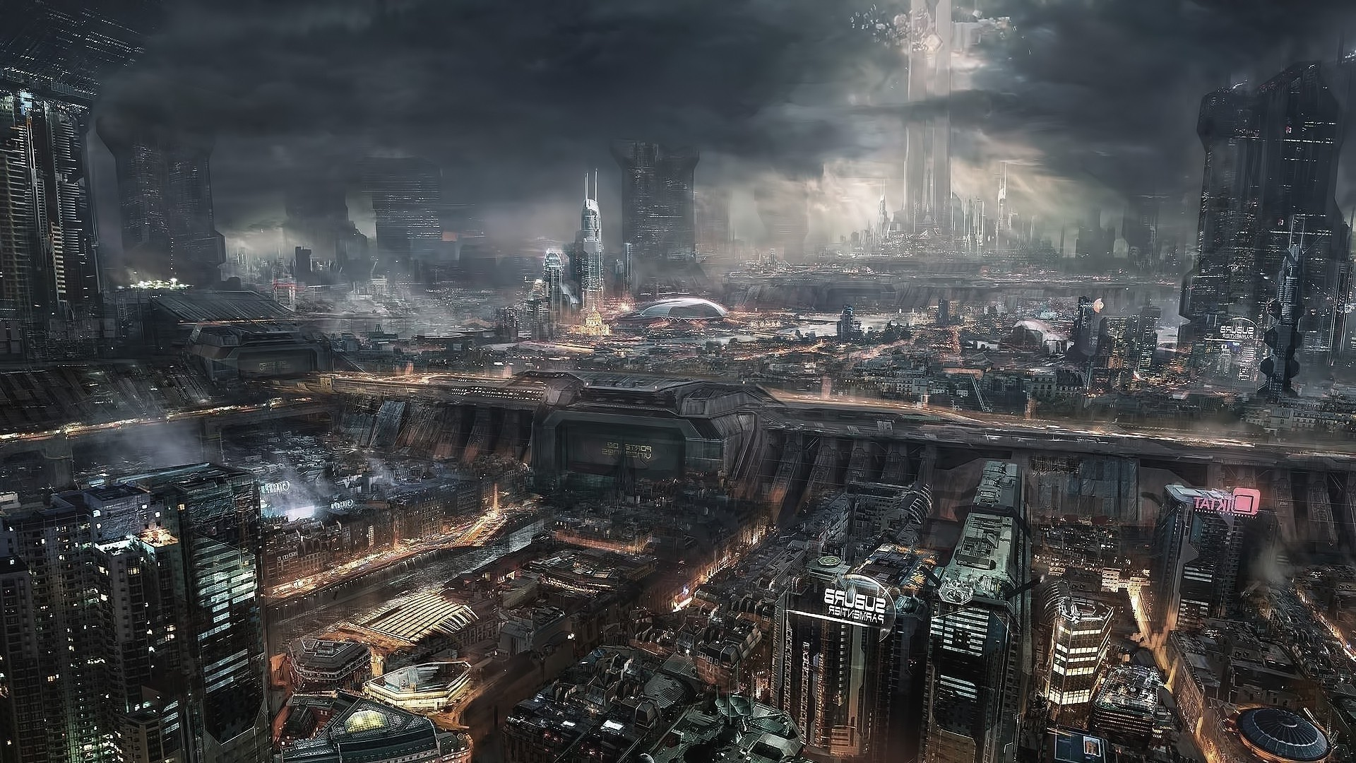 Res: 1920x1080, Title : fantasy art, steampunk, city wallpapers hd / desktop and mobile.  Dimension : 1920 x 1080. File Type : JPG/JPEG