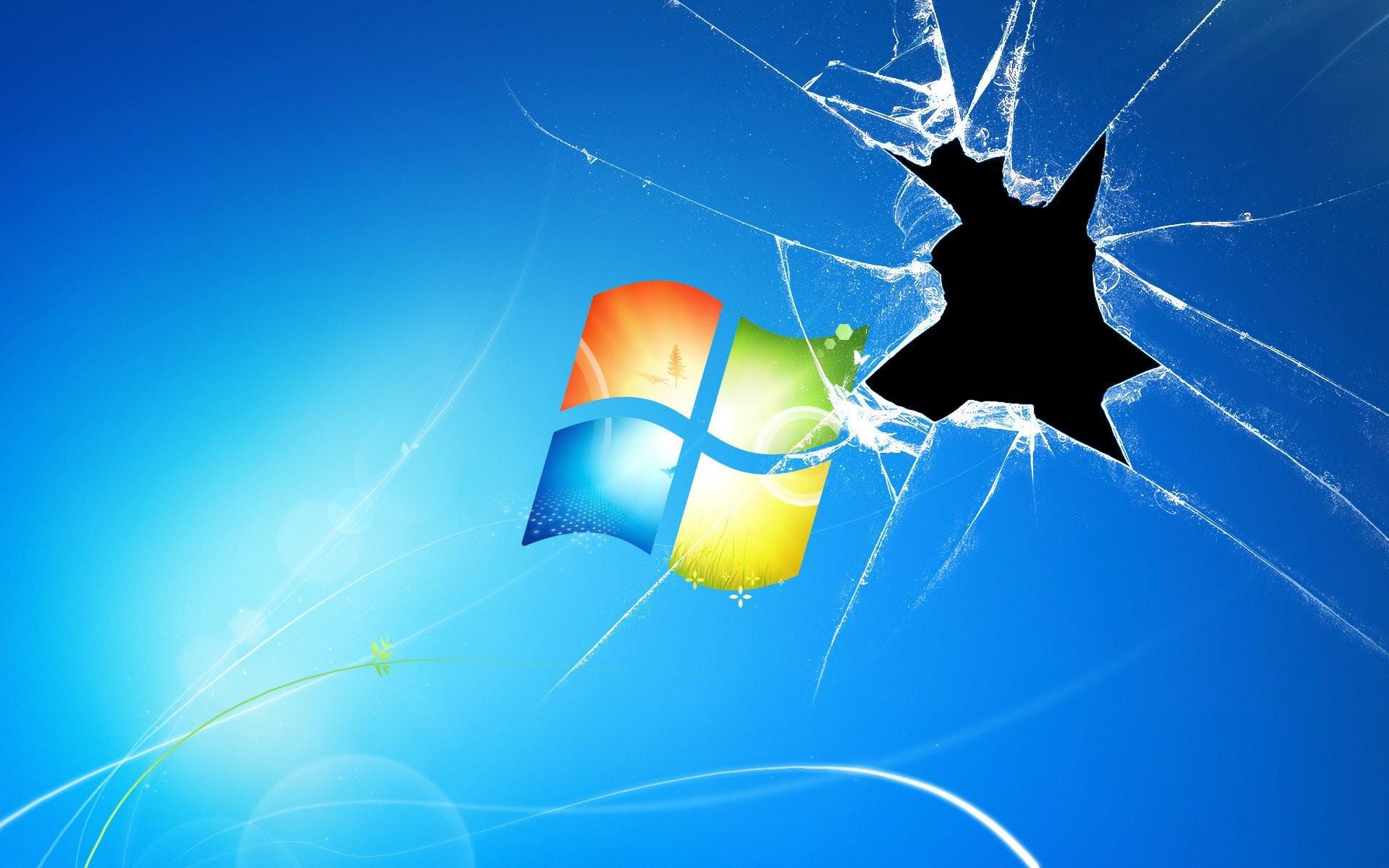Res: 1920x1200, Technologie - Cracked Screen Broken Screen Wallpaper