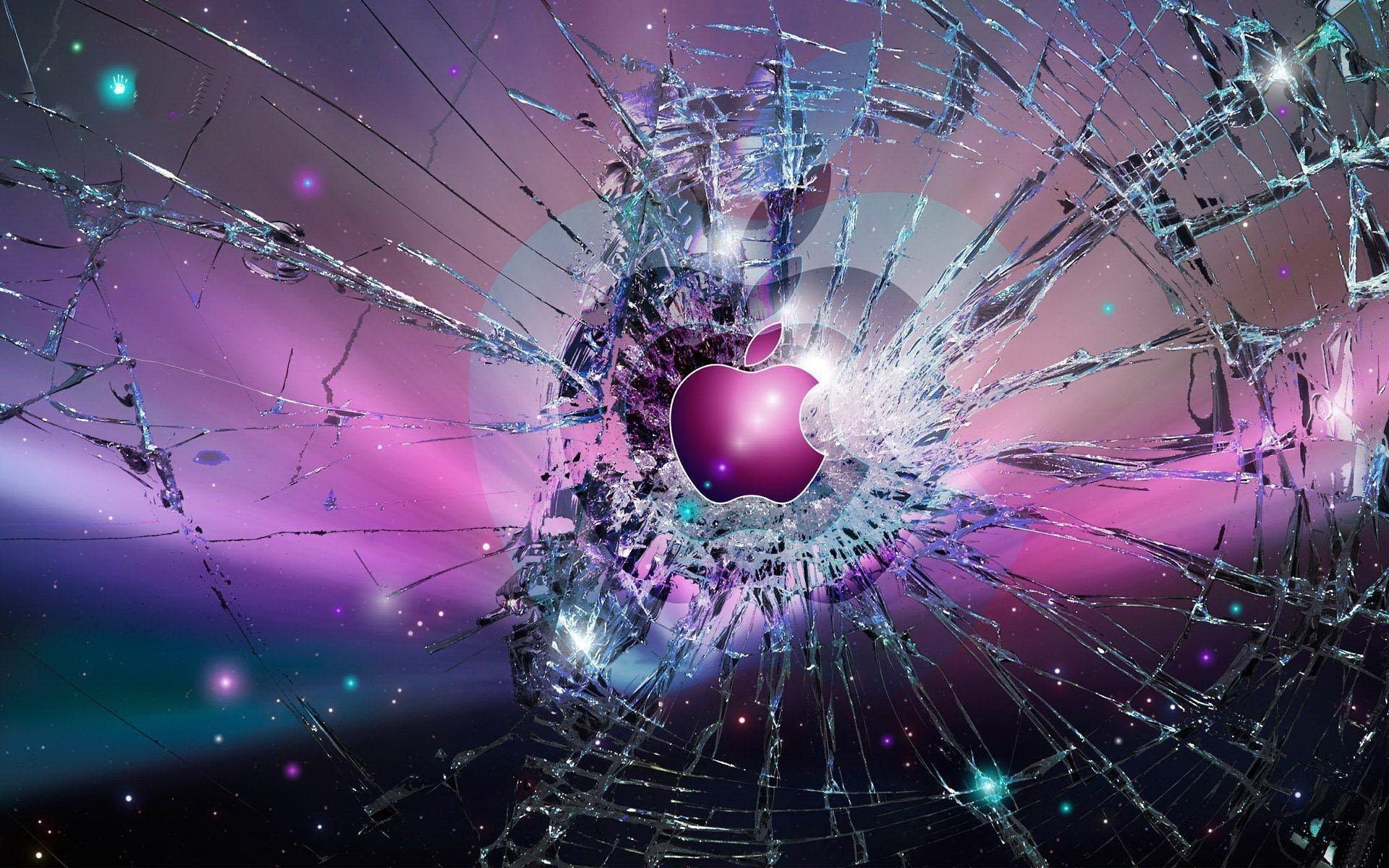 Res: 1920x1200, Apple inc abstract broken screen wallpaper