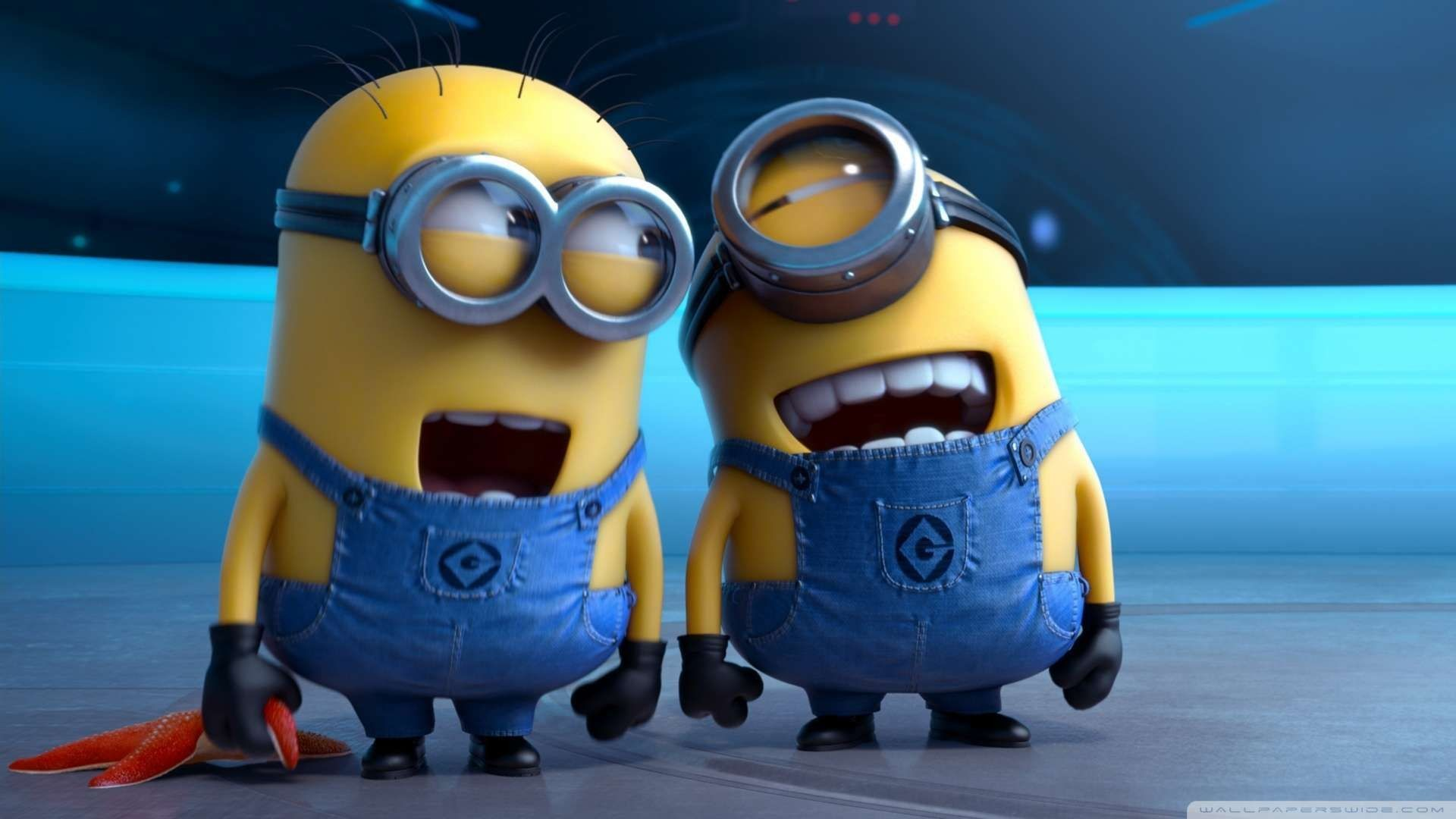 Res: 1920x1080, HD Wallpapers 1080P | ... Me 2 Laughing Minions Wallpaper 1080p HD at 1920  x 1080 Resolution