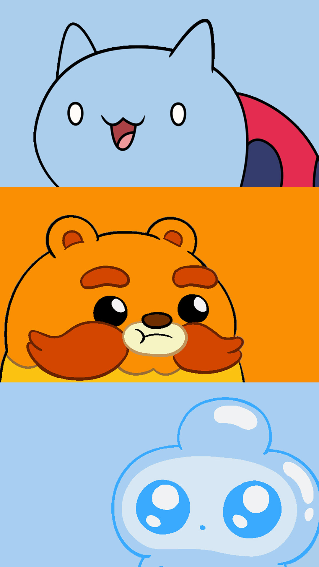 Res: 1080x1920, Catbug, Impossibear, and Jelly Kid Phone Wallpapers (1080 x 1920)