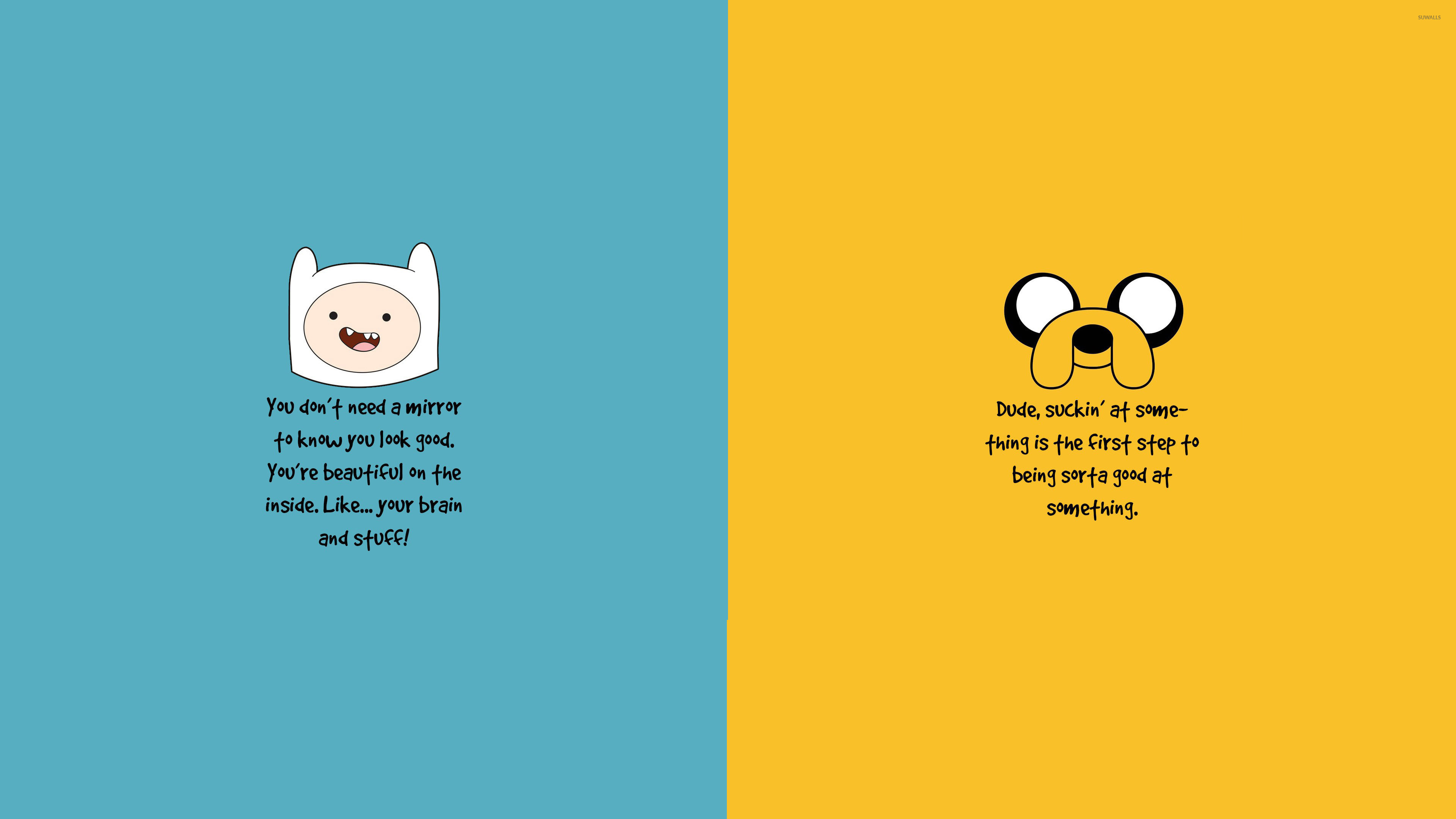 Res: 3840x2160, Adventure Time motivation wallpaper