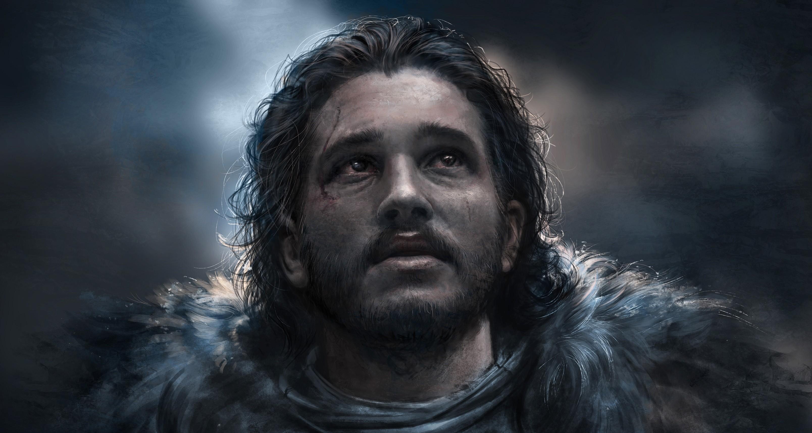Res: 3216x1716, Jon Snow Best Art