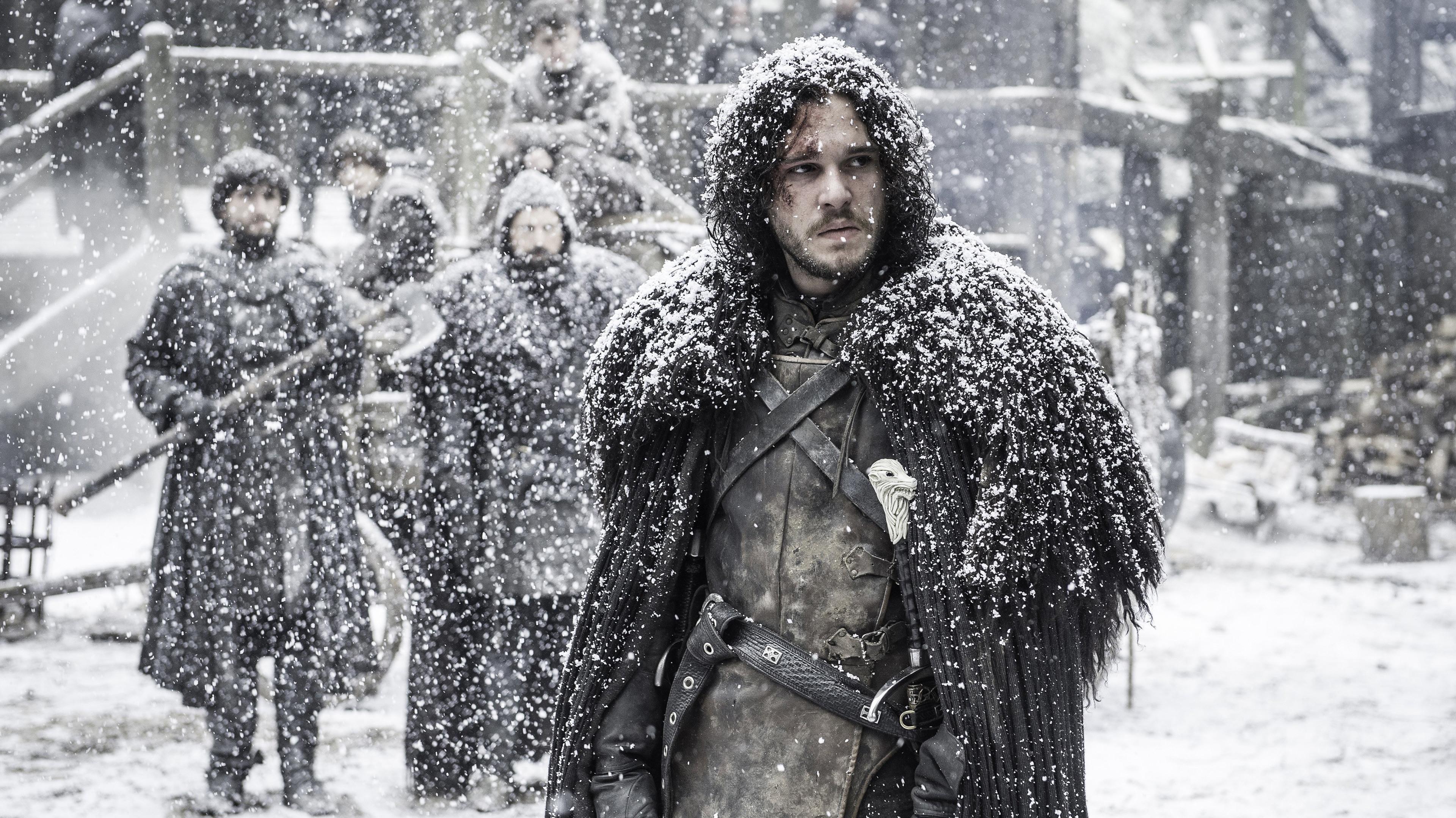 Res: 3840x2160, Jon Snow Game of Thrones Season 6