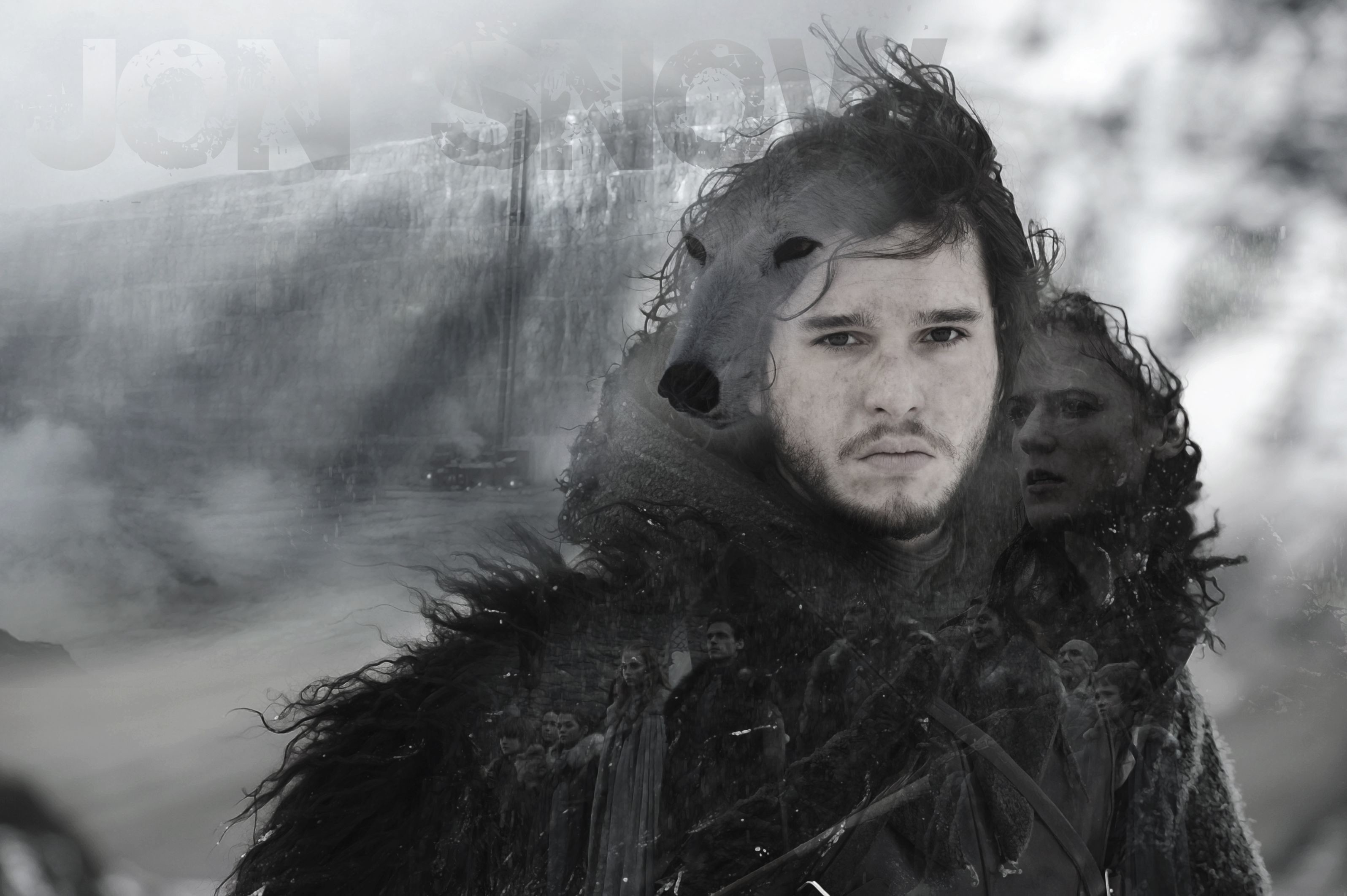 Res: 3192x2124, No Spoilers[No Spoilers][Wallpaper] A rather simple but effective Jon Snow  wallpaper I put together.