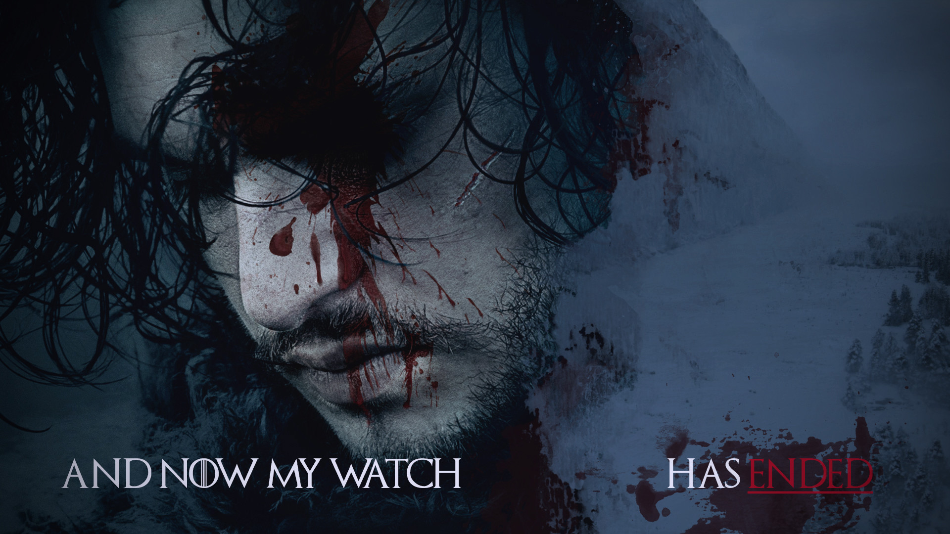 Res: 1920x1080, Jon Snow wallpaper I made in honor of the upcoming season.