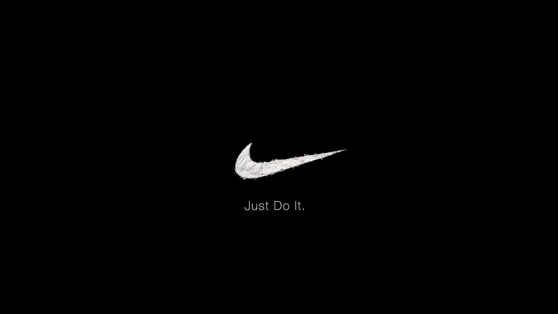 Res: 1920x1080, Nike Black Clasic Just do It Desktop, Logo & Designs Wallpaper, hd .