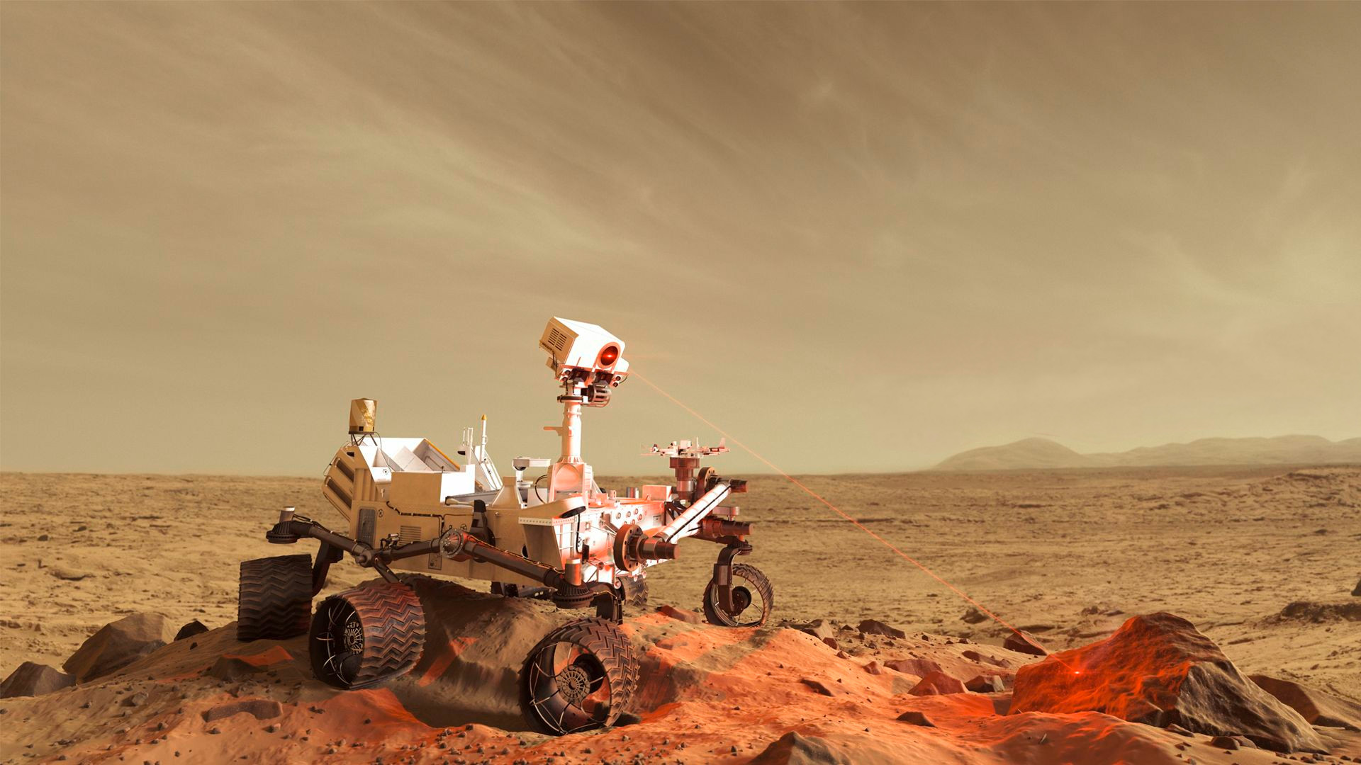 Res: 1920x1080, Mars rover finds another rock