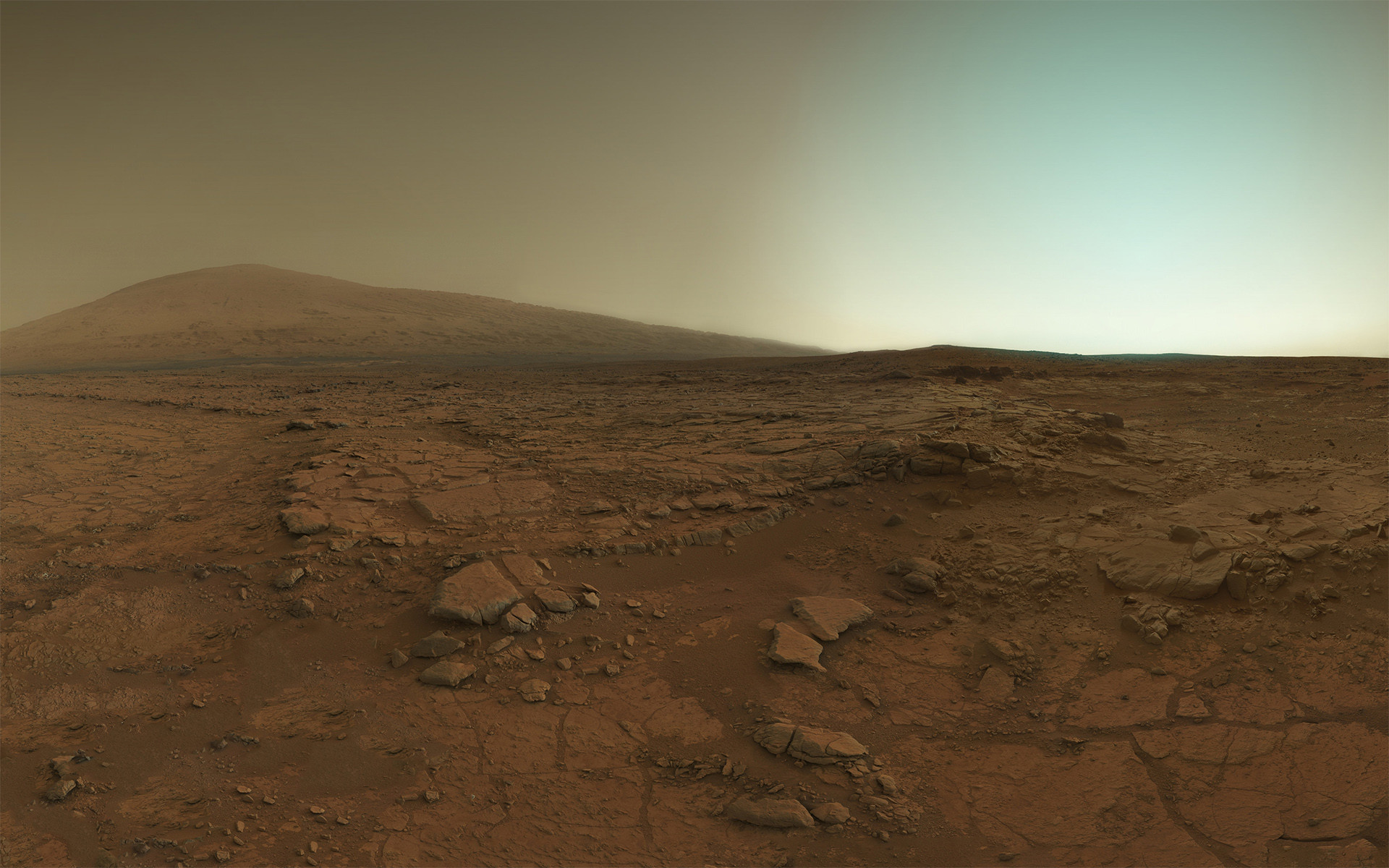 Res: 1920x1200, The surface of Mars, as seen by the Curiosity Rover.