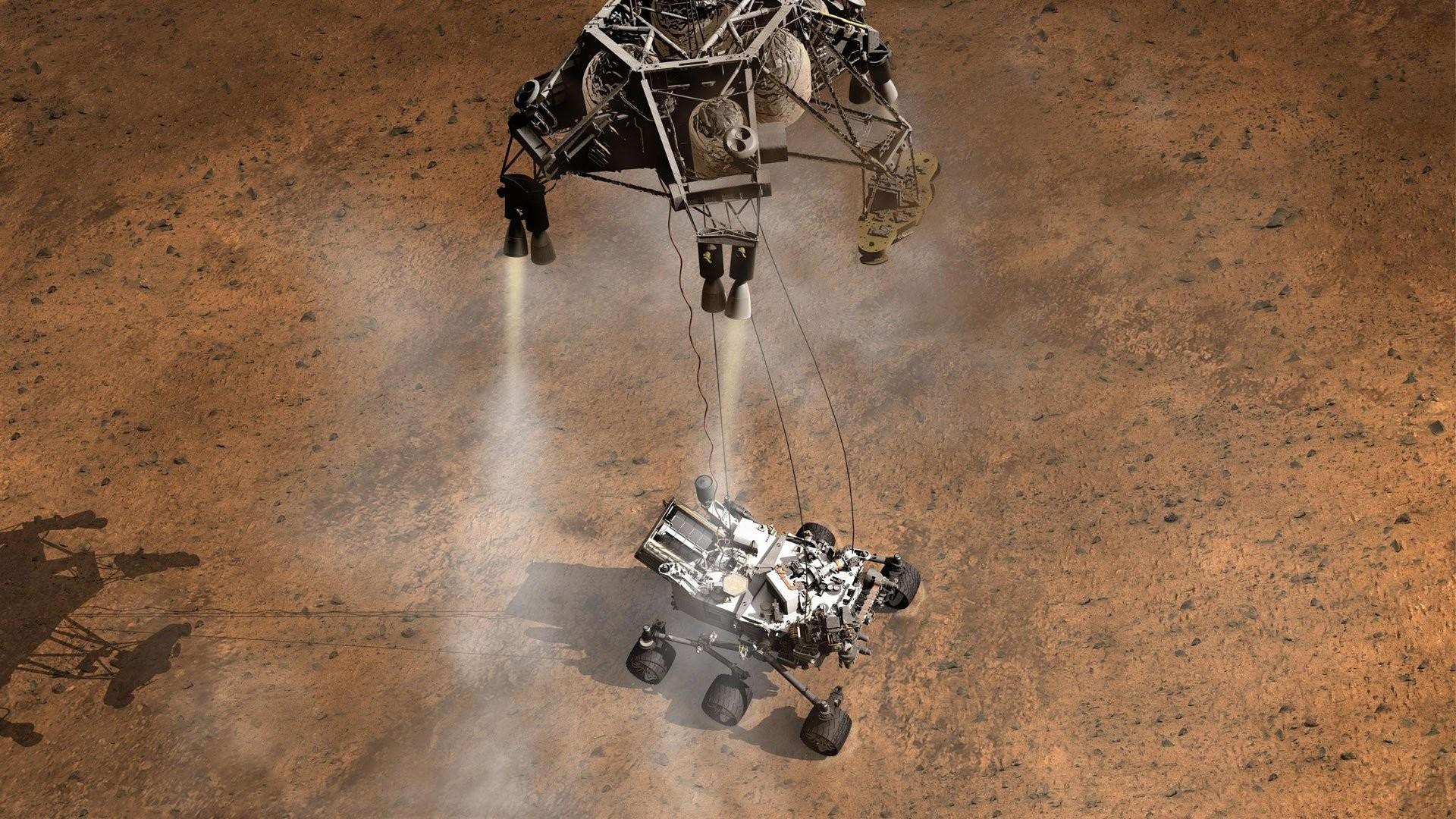 Res: 1920x1080, curiosity rover's mars landing