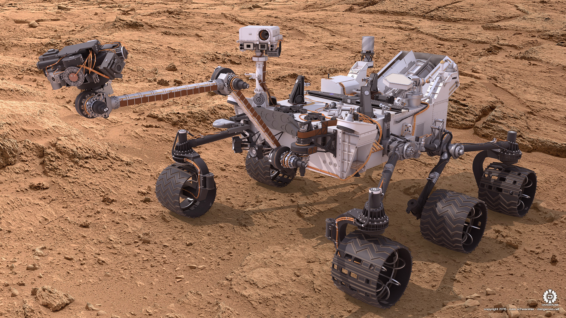 Res: 1920x1080, ... Mars Science Lab Curiosity Rover 01 by dangeruss