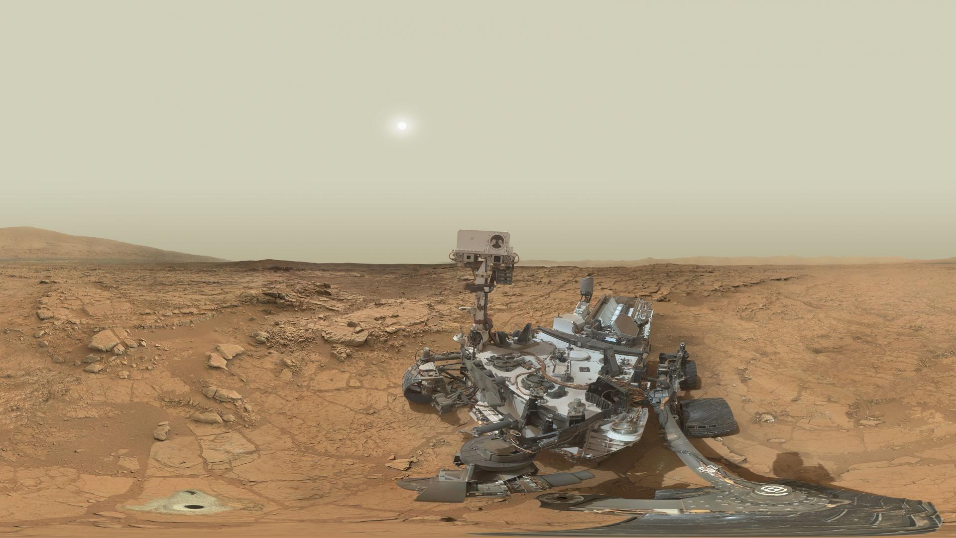 Res: 1920x1080, Mars Rover Selfie