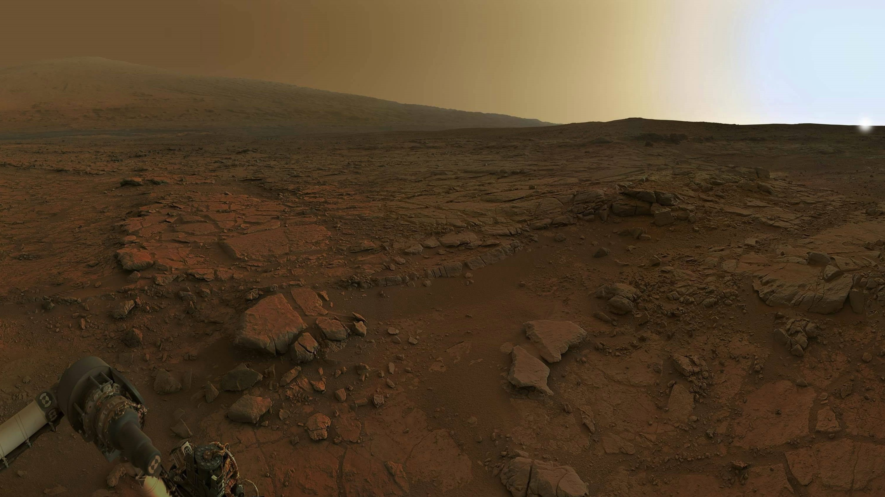Res: 3009x1692, Mars rover, dawn on Mars, Mars, theme space - download Wallpapers and  Desktop Backgrounds