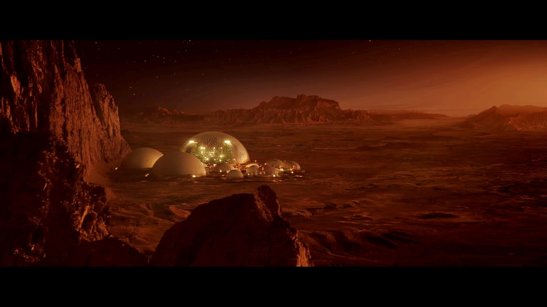 Res: 1920x1080, East Texas colony on Mars - The Space Between Us movie wallpaper