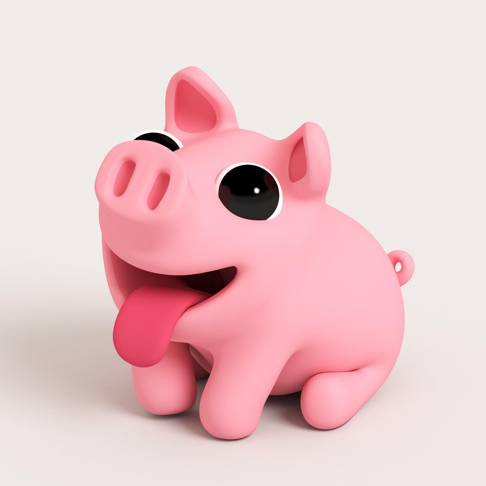 Res: 2048x2048, 1536x2048 Cute pig wallpaper