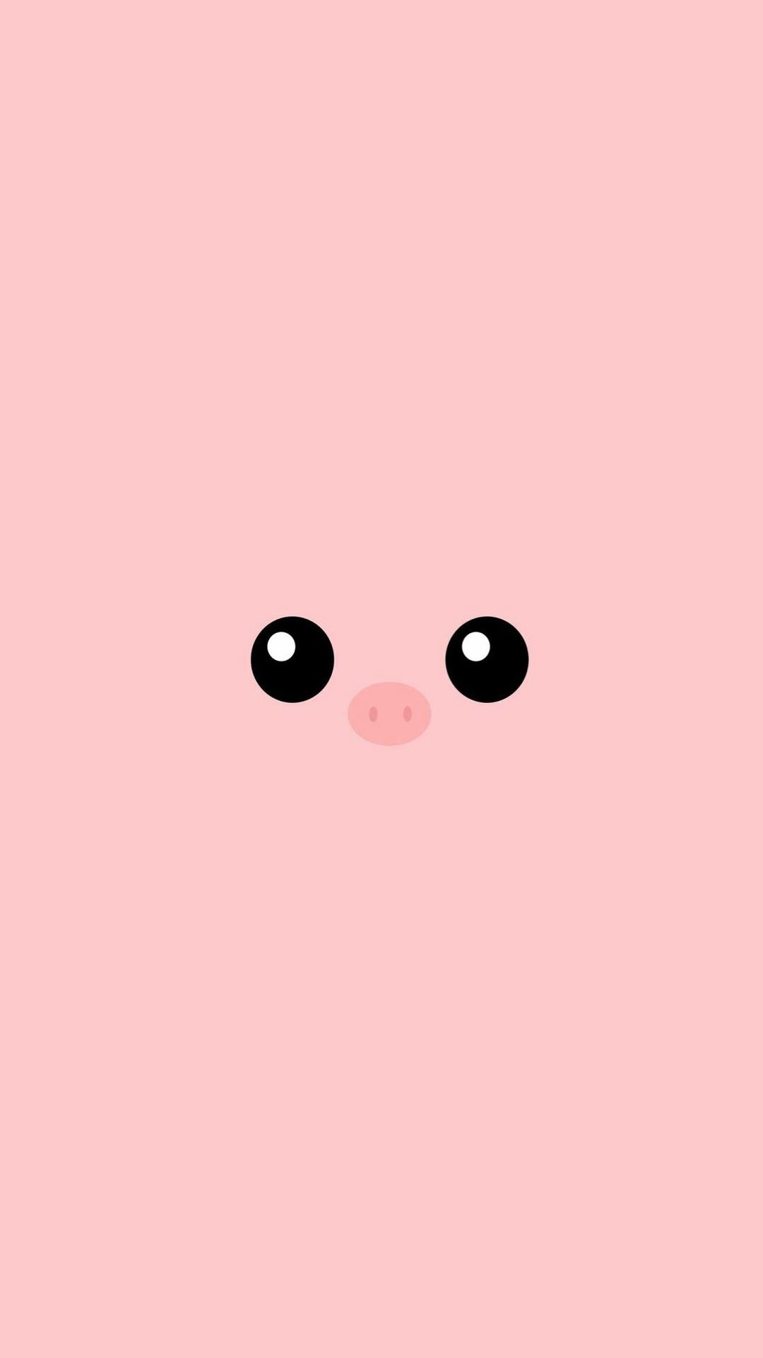 Res: 1080x1920, Minimal Pink Piggy Cute Eyes #iPhone #6 #wallpaper