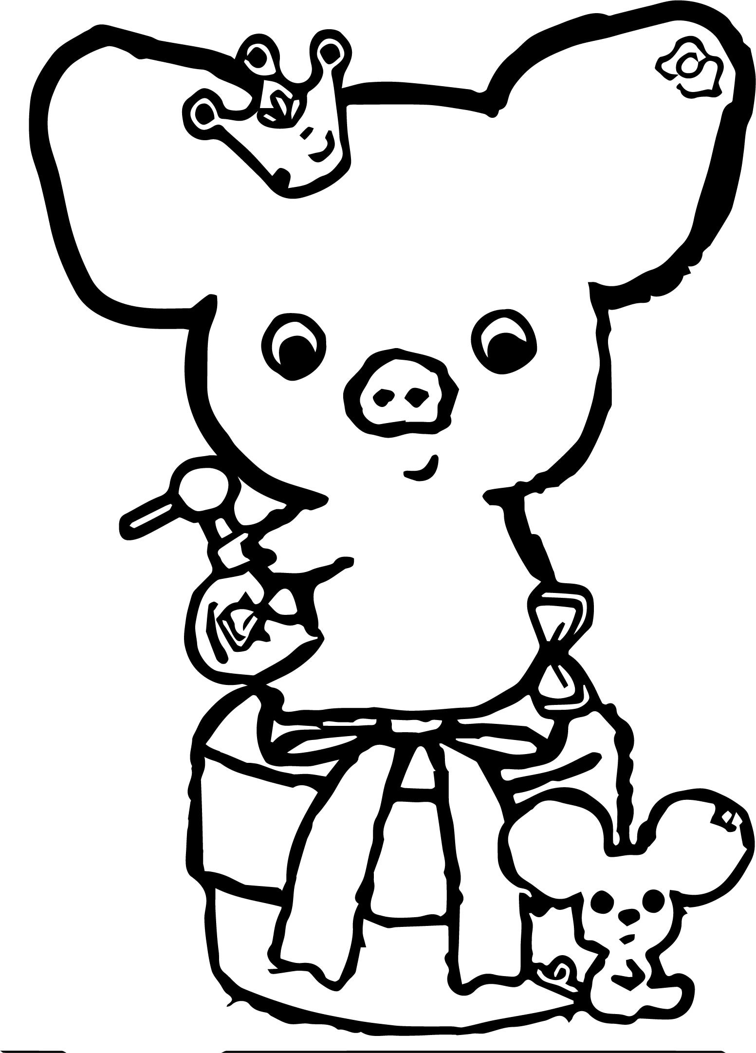 Res: 1553x2163, Piggy Back Ride Coloring Pages Clipart Library • Piggy Girl Coloring Page  Piggy Back Ride Coloring Pageshtml Miss Piggy Coloring Pages The