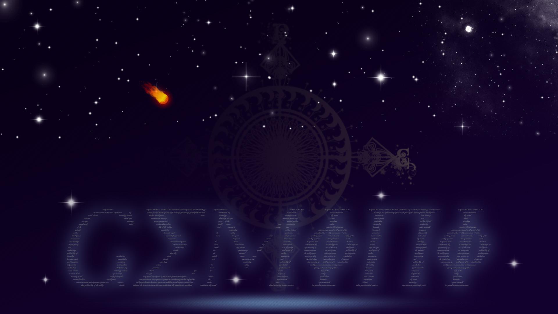 Res: 1920x1080, ... Gemini Zodiac Astrology Symbolic HD Wallpaper by Sleepy-Stardust