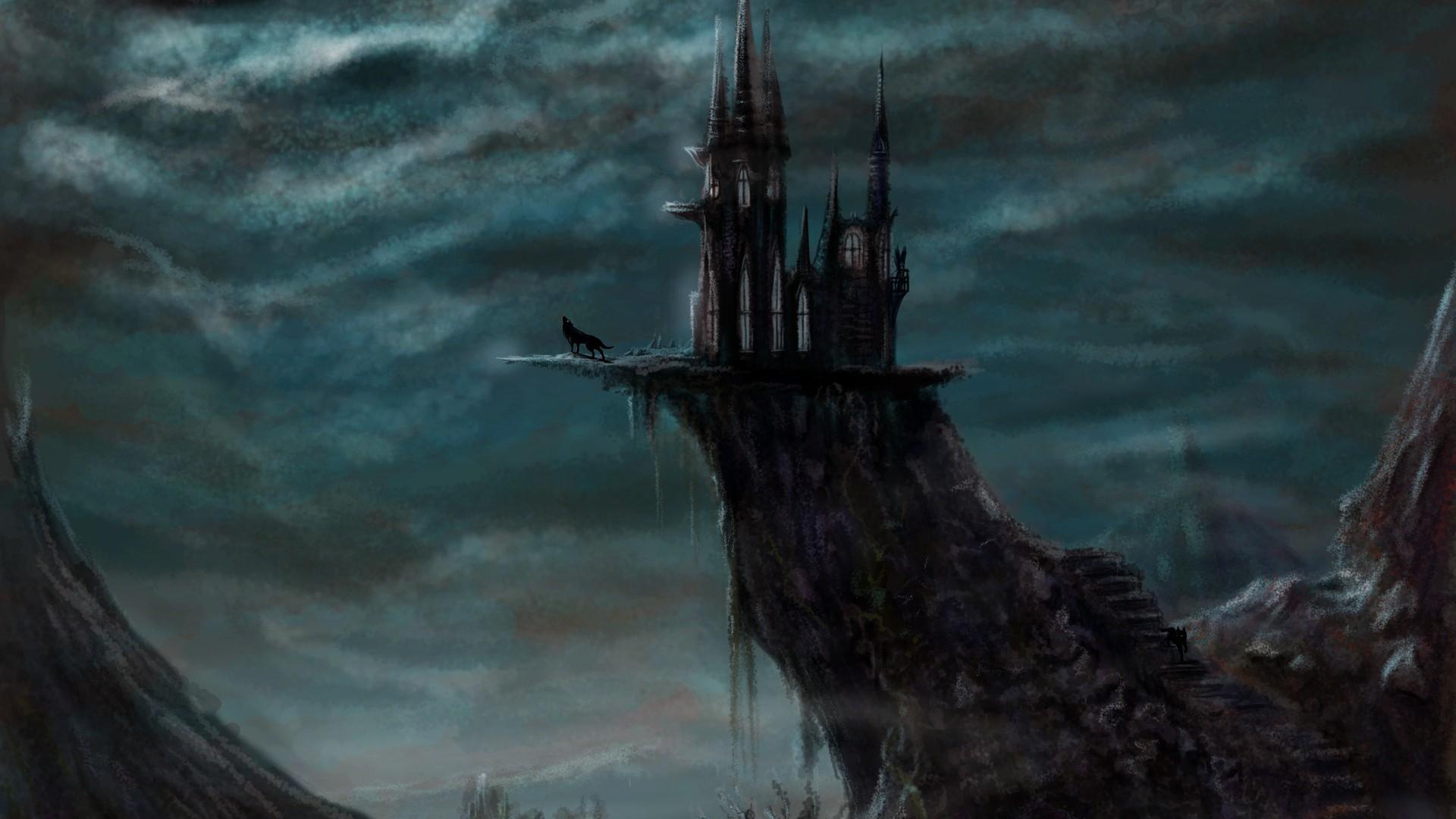Res: 1920x1080, Eerie Castle Wallpaper
