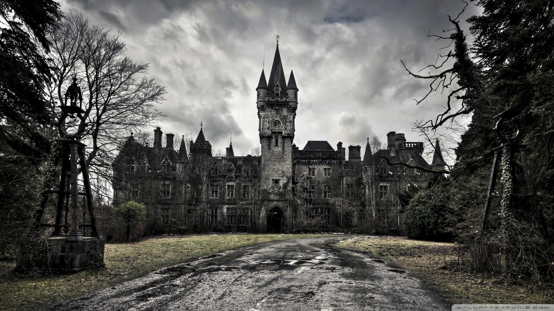 Res: 1920x1080, Spooky Castle Wallpaper