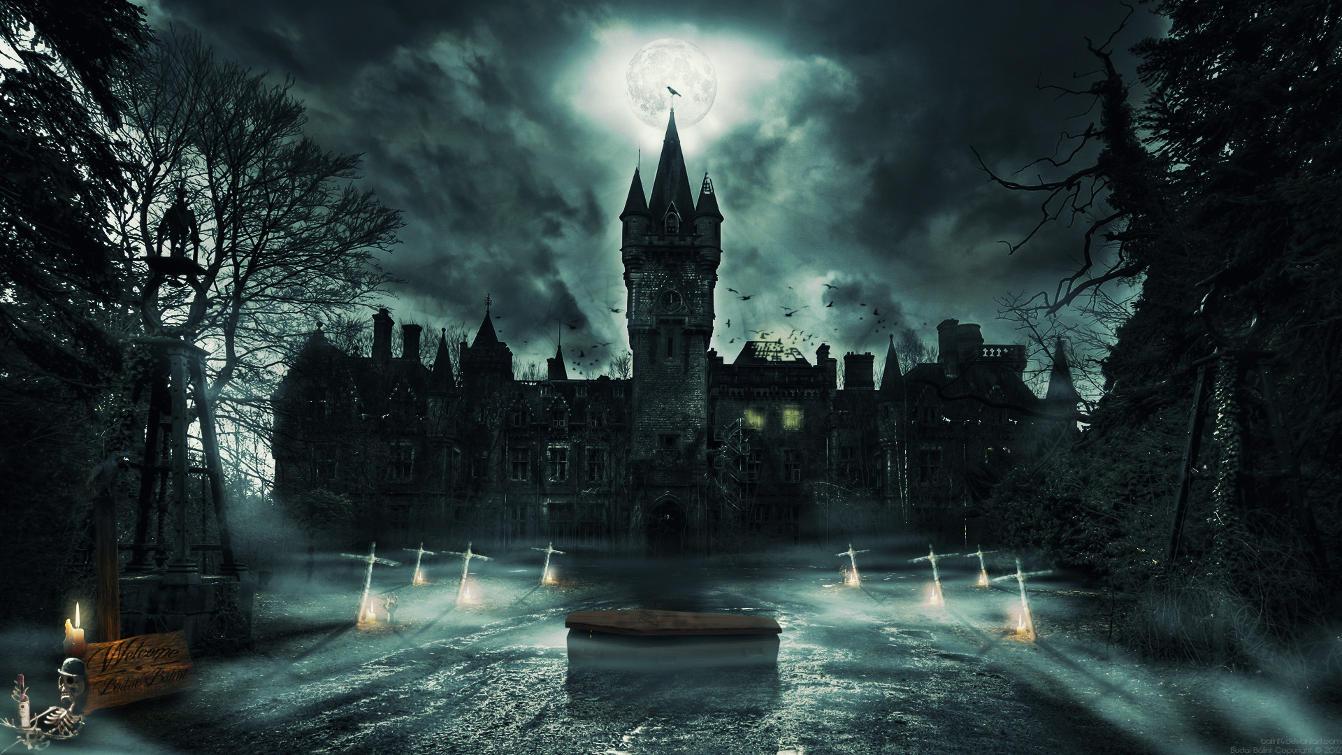 Res: 1920x1080, Ghost Castle by balint4 Ghost Castle by balint4