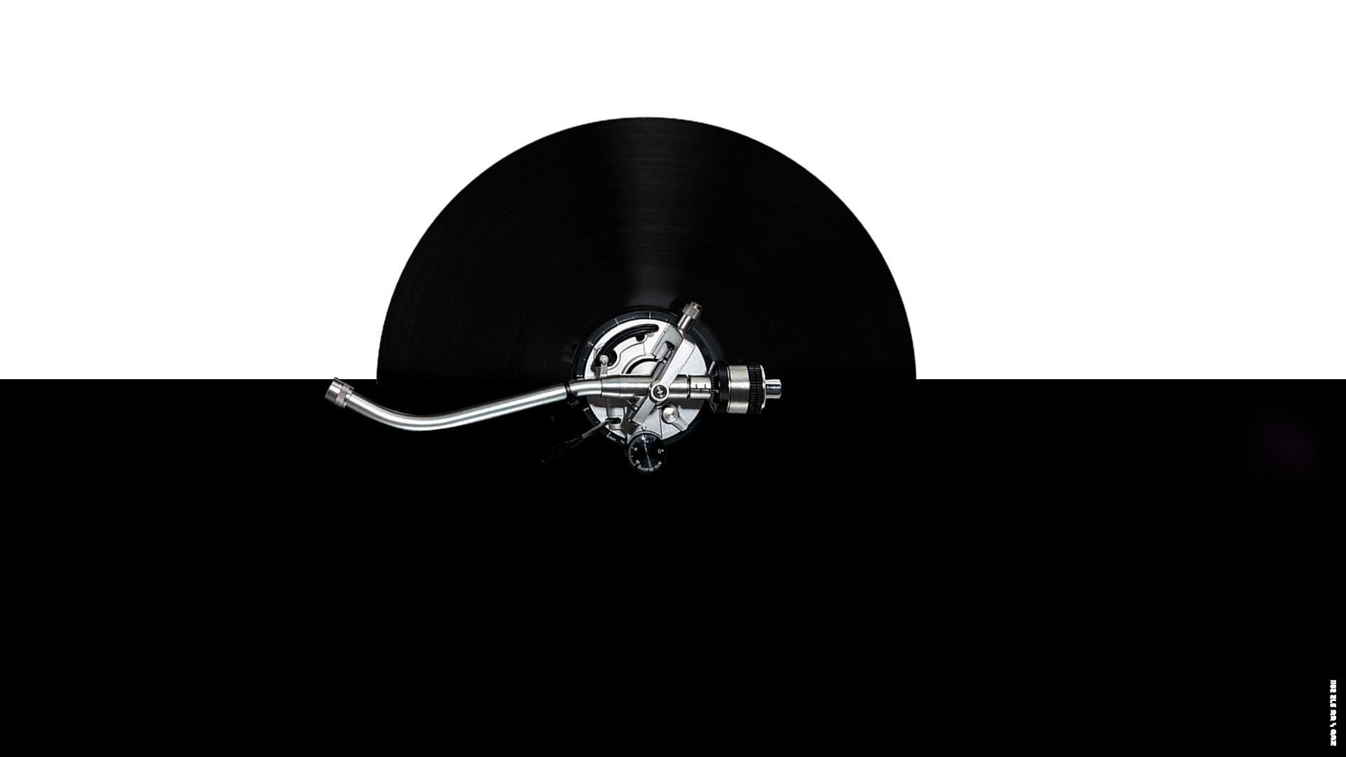 Res: 1920x1080, Black white turntable vinyl turntables technics DJ arms mk2 scratch  wallpaper      262095   WallpaperUP