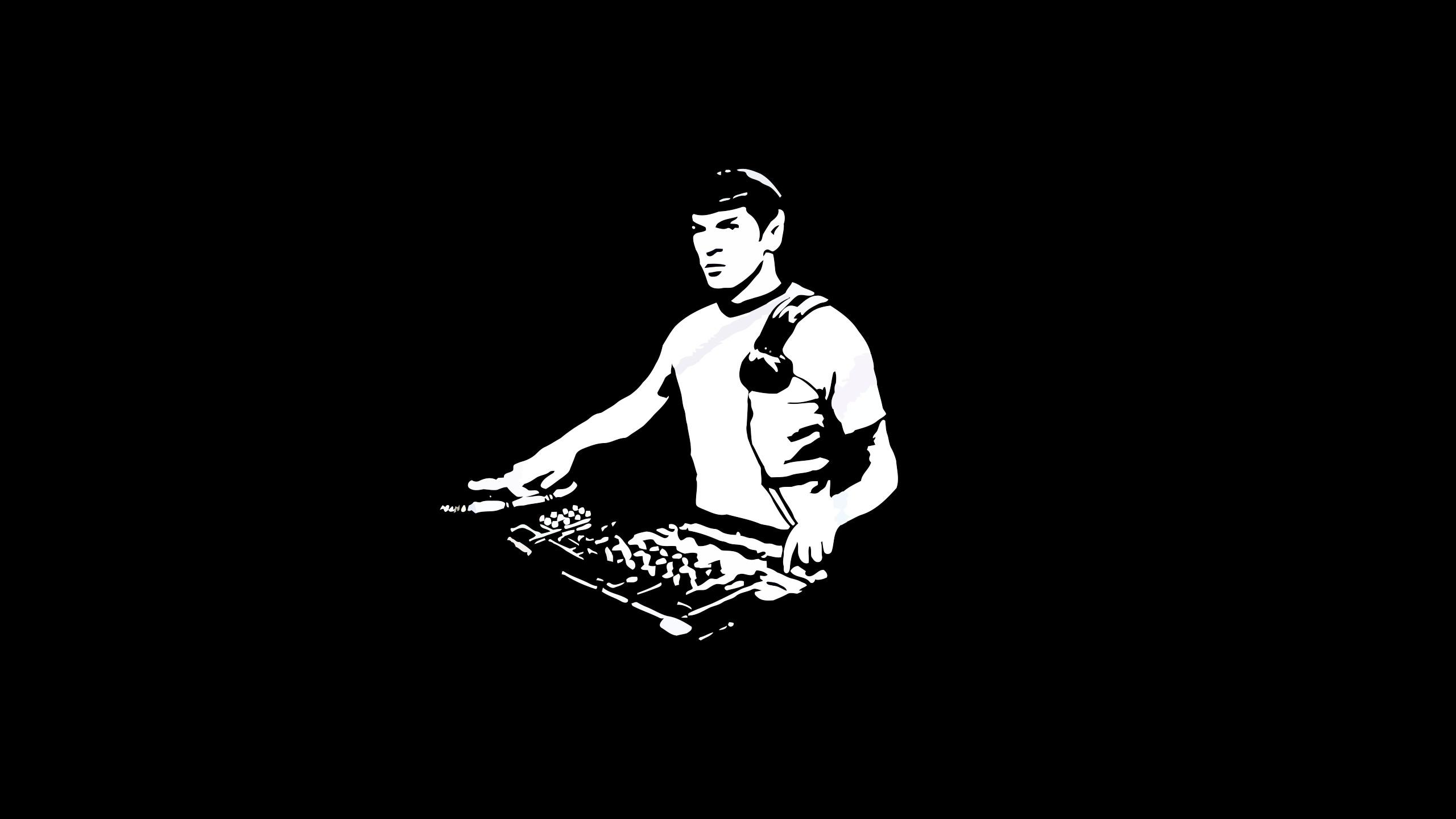 Res: 2560x1440, Spock as DJ Wallpaper